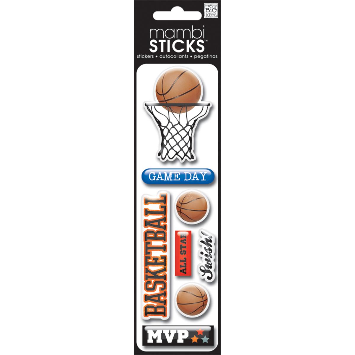 Basketball-Mambi Puffy Stickers
