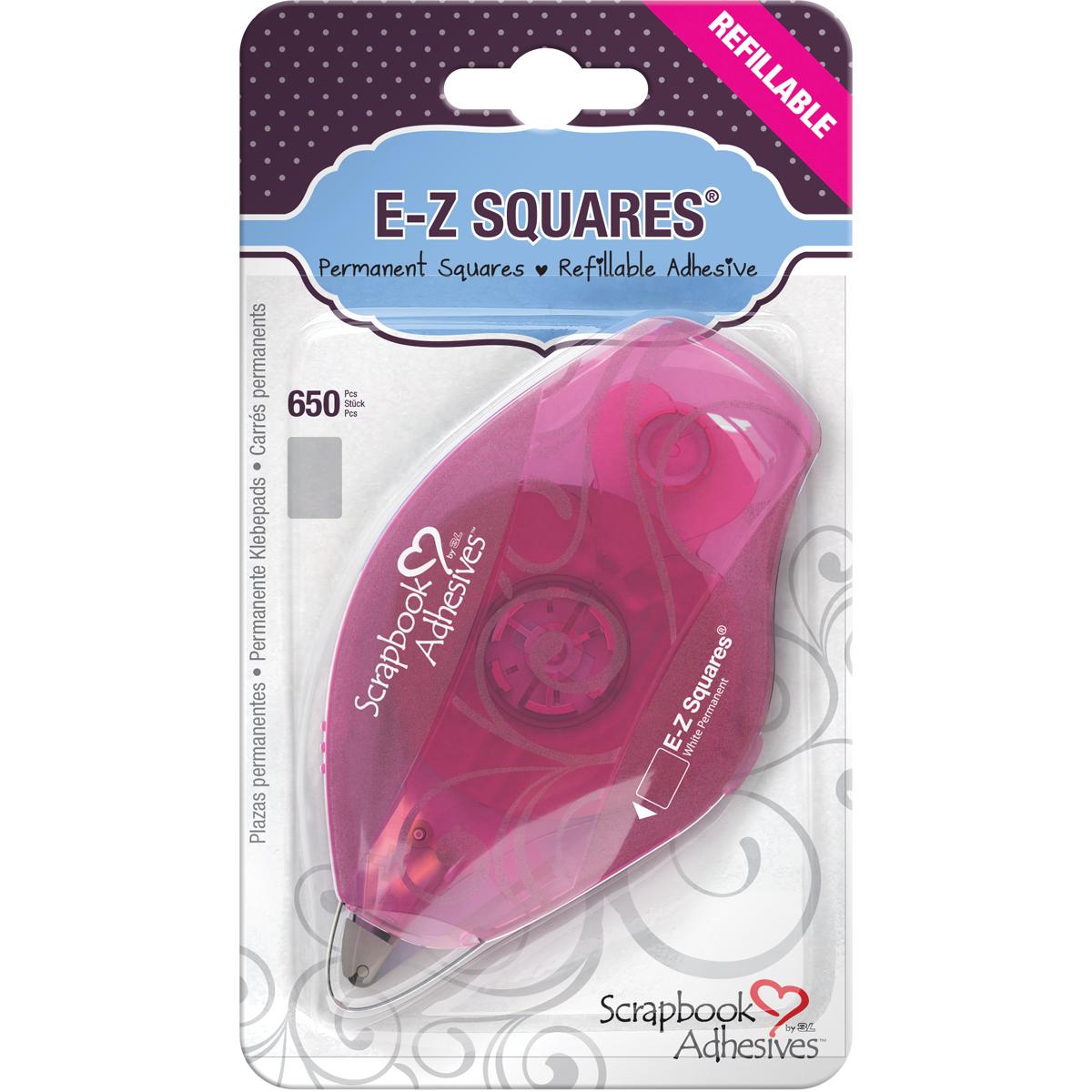 Scrapbook Adhesives E-Z Squares Refillable Dispenser 650/Pkg-Permanent