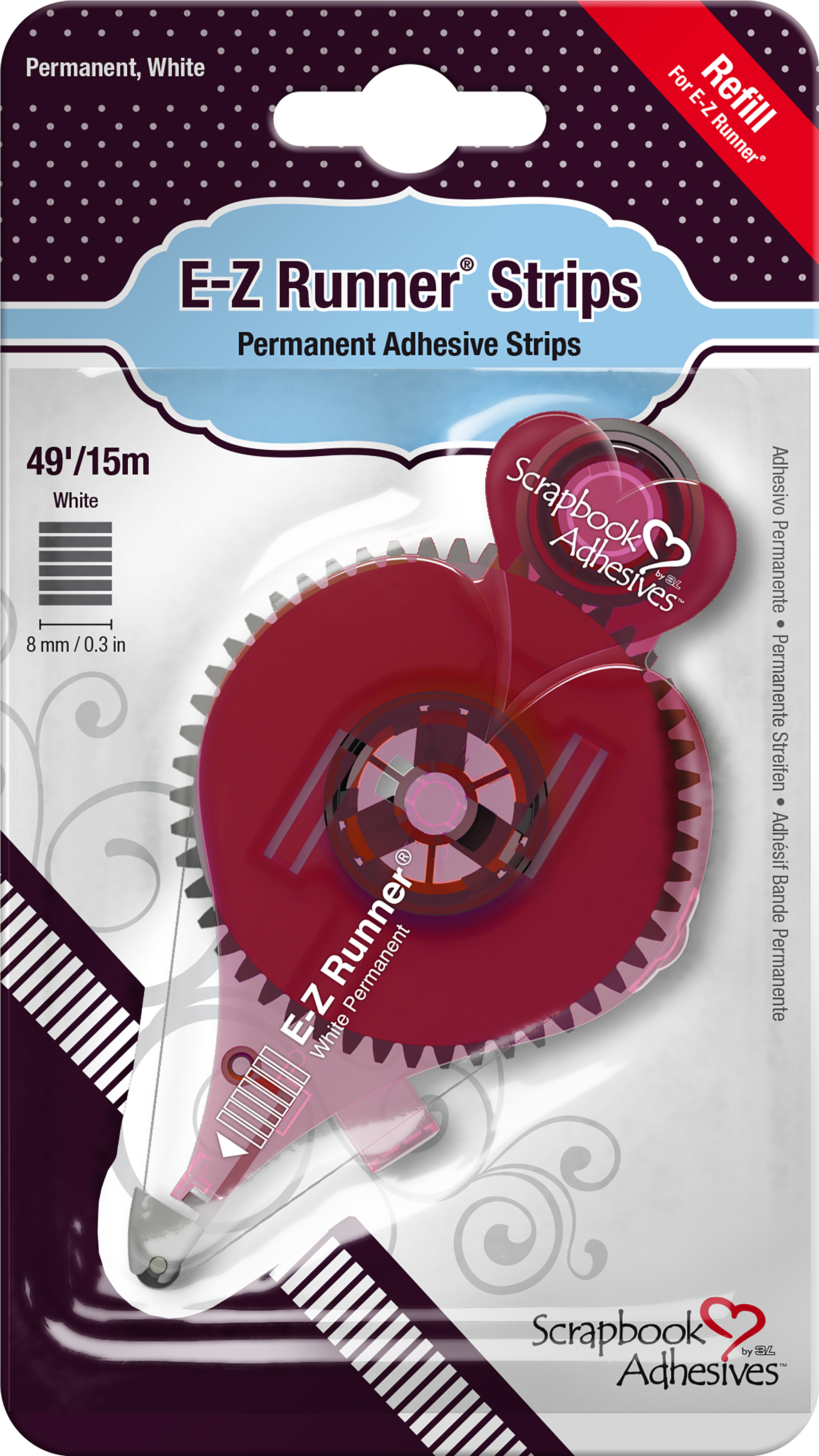 Scrapbook Adhesives E-Z Runner Refill-Permanent, 49', Use For 12006
