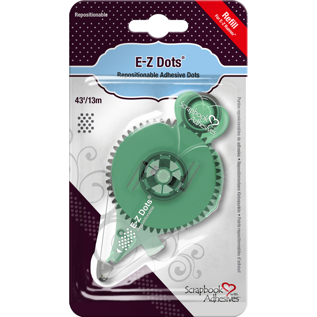 Scrapbook Adhesives E-Z Dots Refill-Repositionable 43' Use In 12046