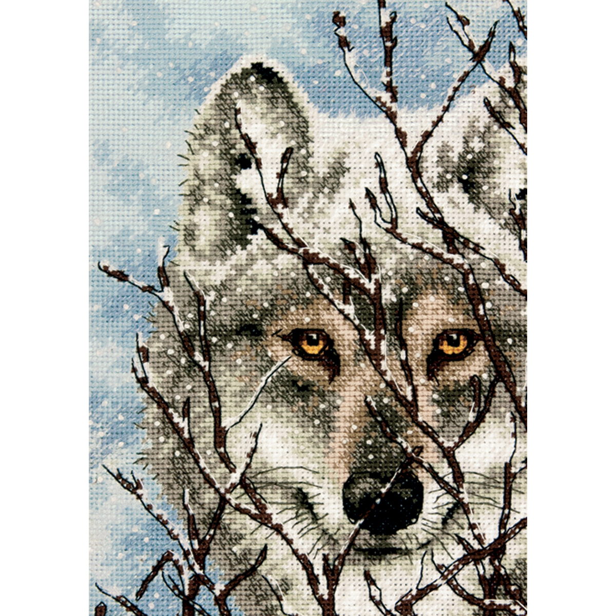 Dimensions Gold Petite Counted Cross Stitch Kit 5X7-Wolf (18 Count)