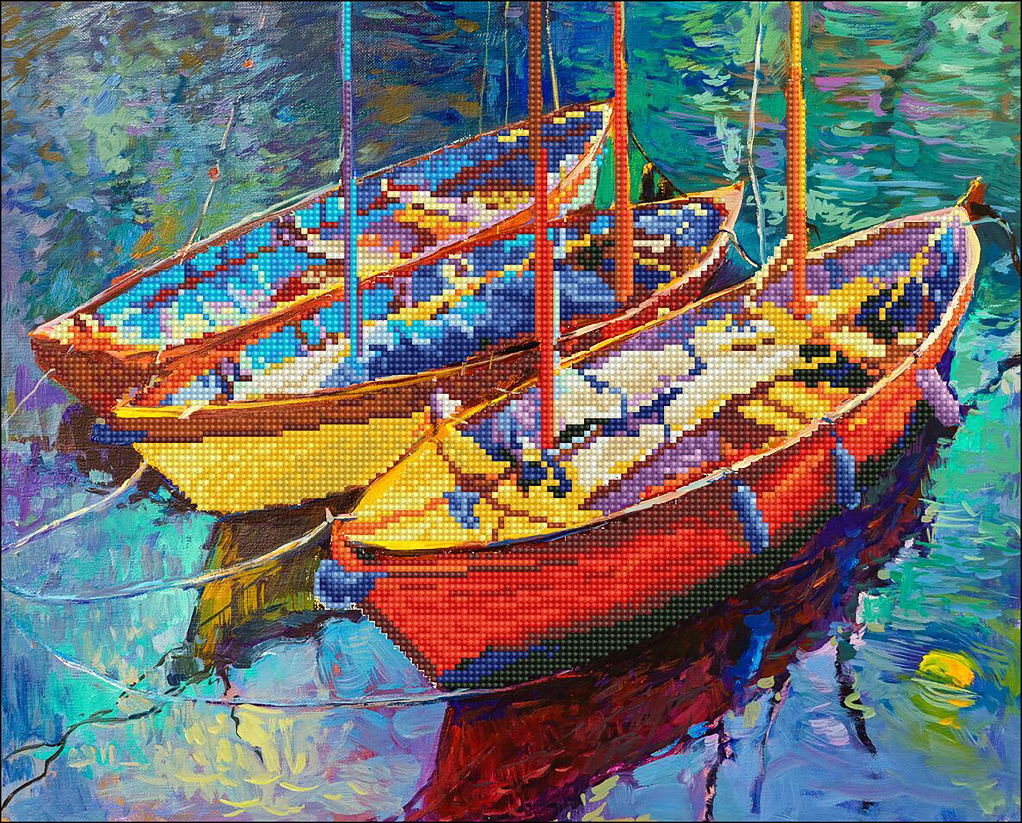 Diamond Dotz Diamond Embroidery Facet Art Kit 21.5X18-Dream Boats