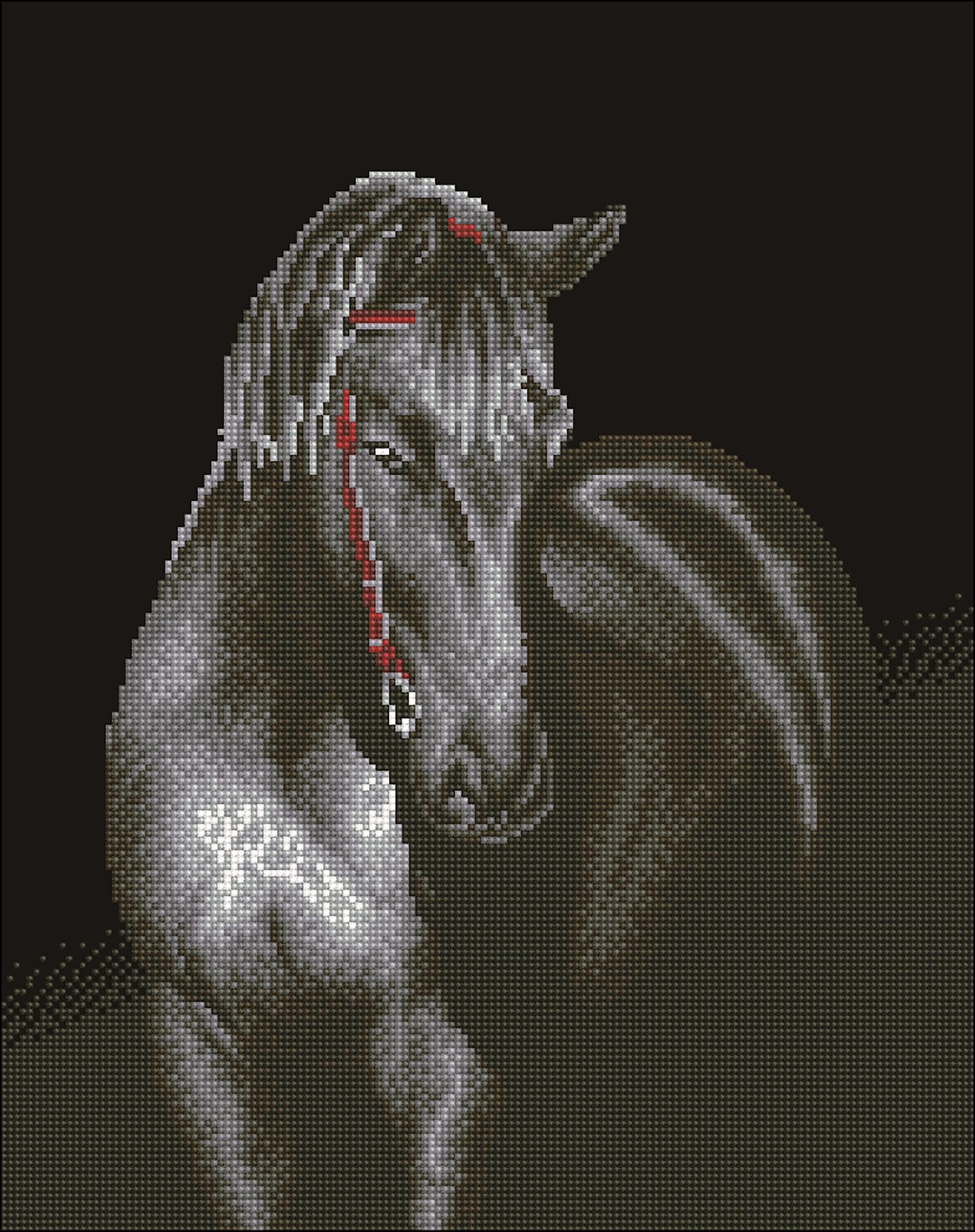 Diamond Dotz Diamond Embroidery Facet Art Kit 19.5X24-Midnight Stallion