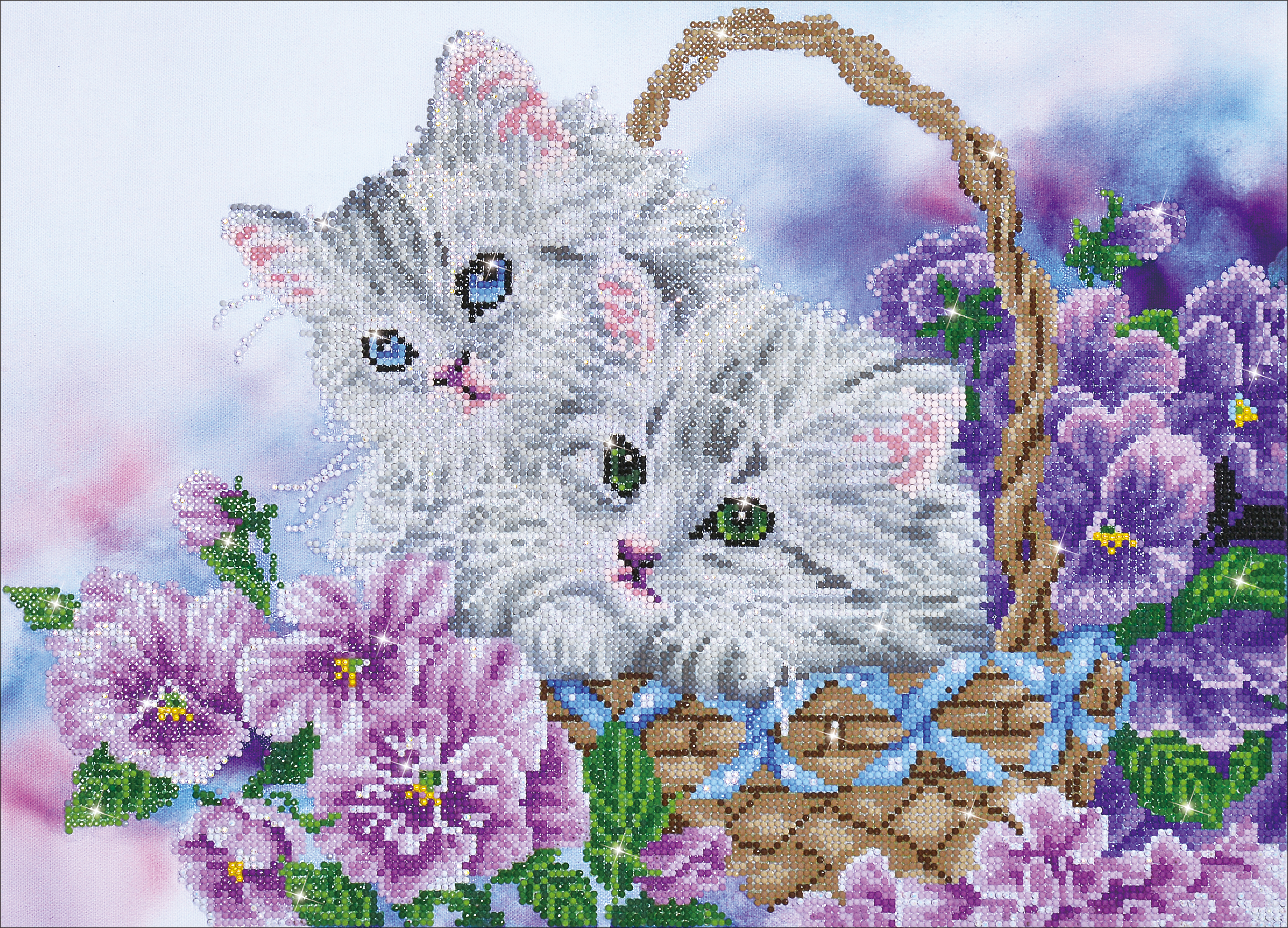 Diamond Dotz Diamond Embroidery Facet Art Kit 23.5X18-Kitty Basket