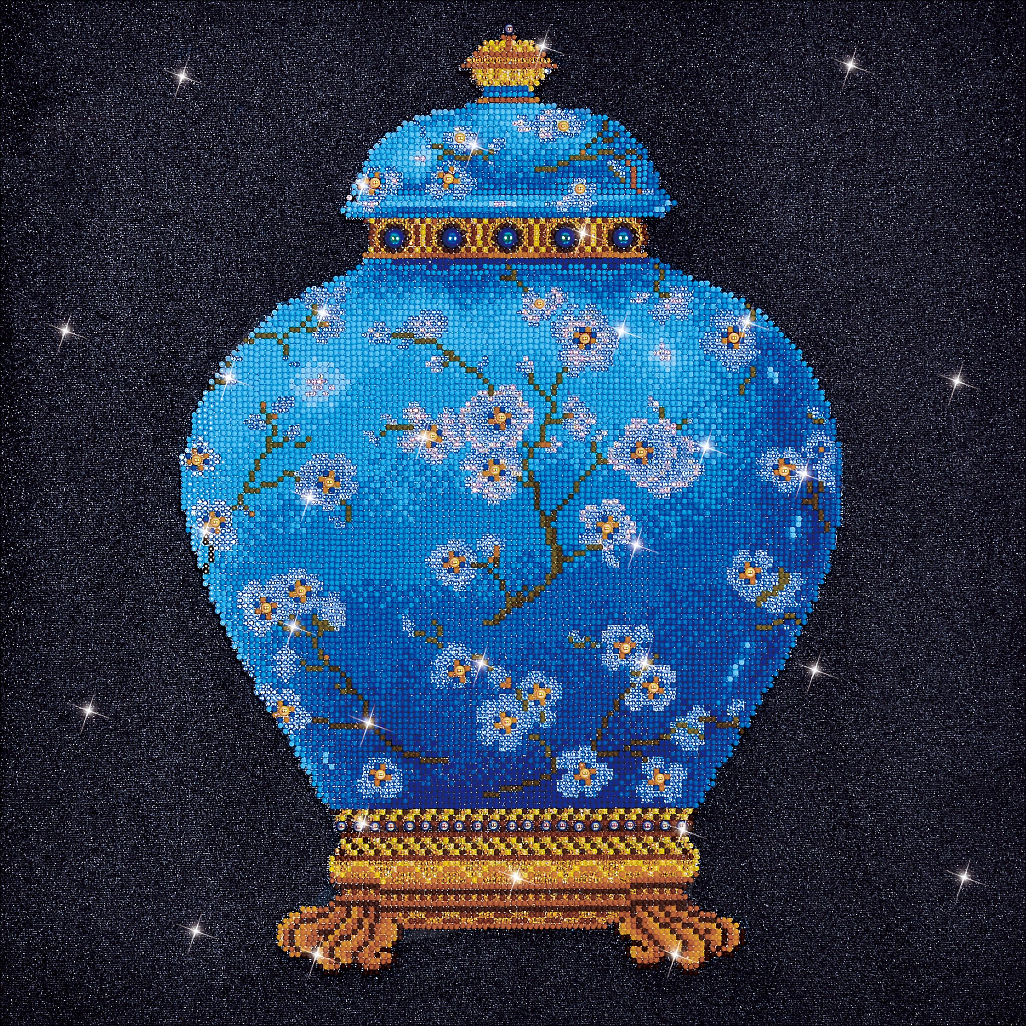 Diamond Dotz Diamond Embroidery Facet Art Kit 23.5X23.5-Blue Vase