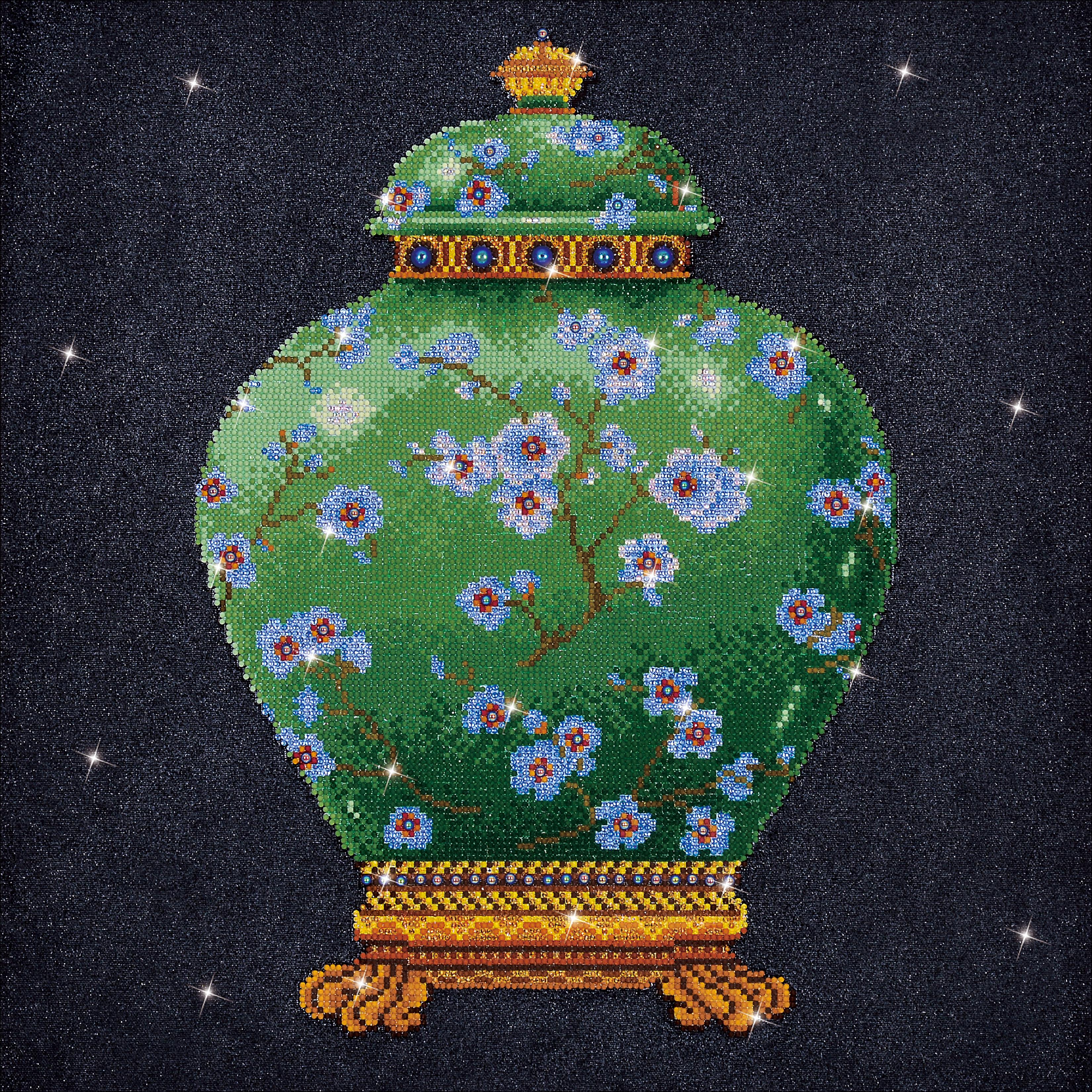 Diamond Dotz Diamond Embroidery Facet Art Kit 23.5X23.5-Green Vase