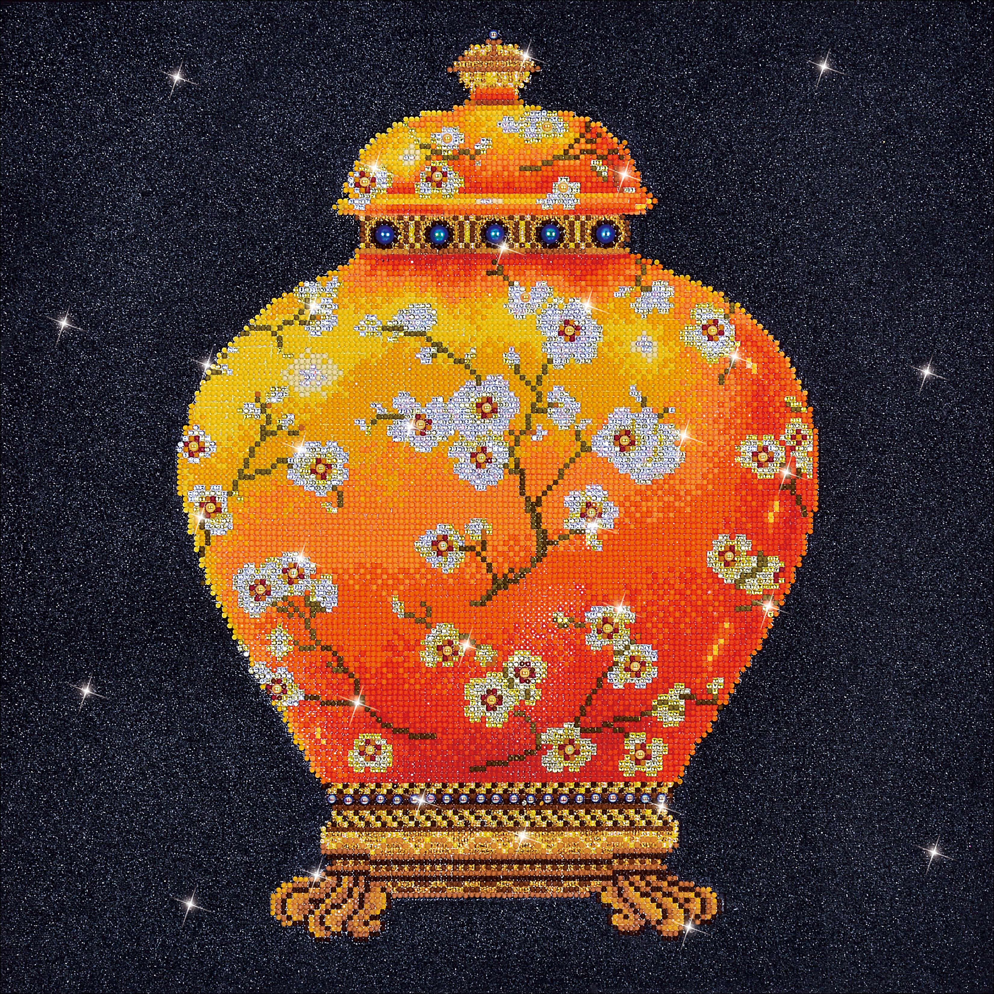 Diamond Dotz Diamond Embroidery Facet Art Kit 23.5X23.5-Red Vase