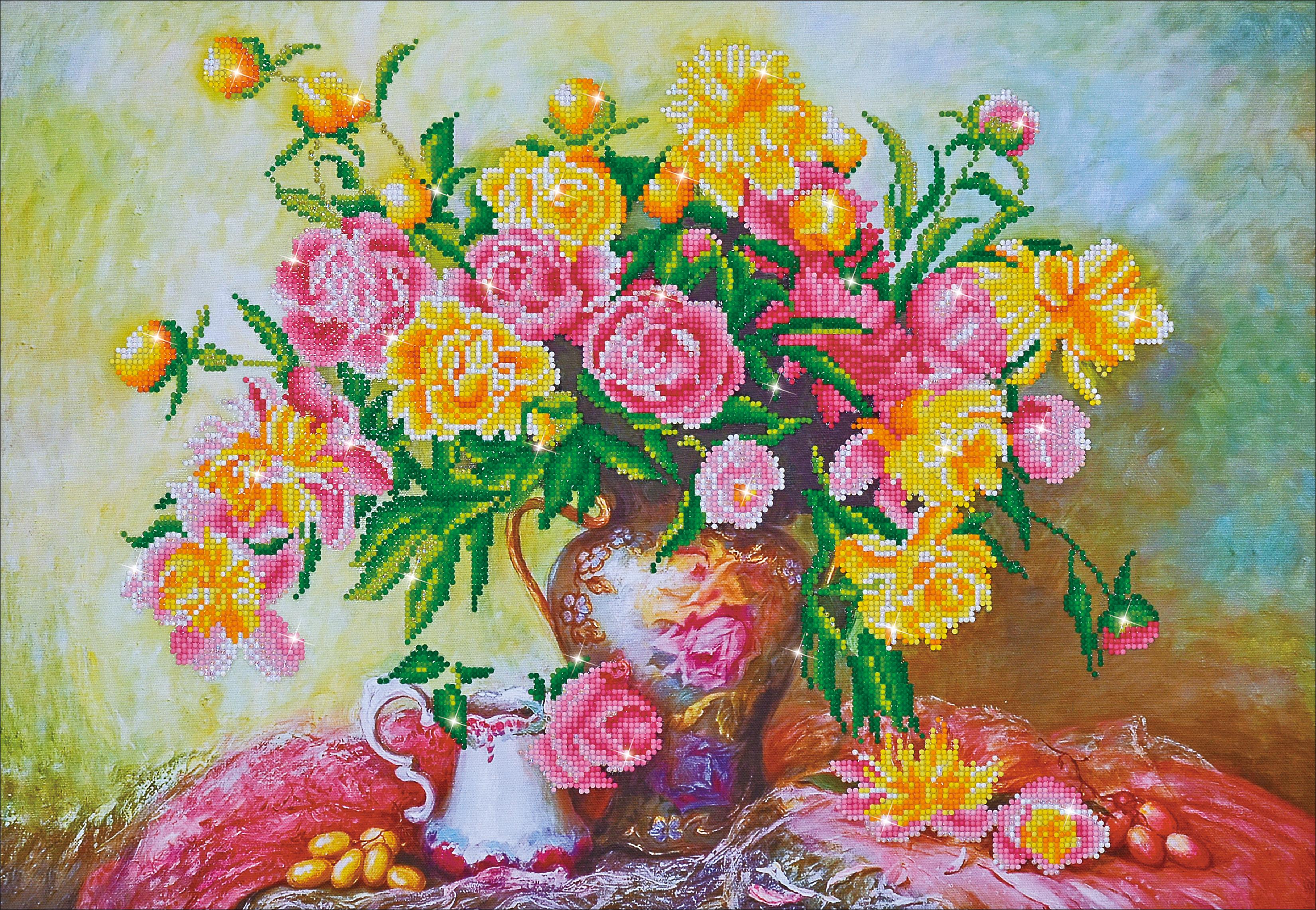 Diamond Dotz Diamond Embroidery Facet Art Kit 29.5X21.75-Elegant Roses