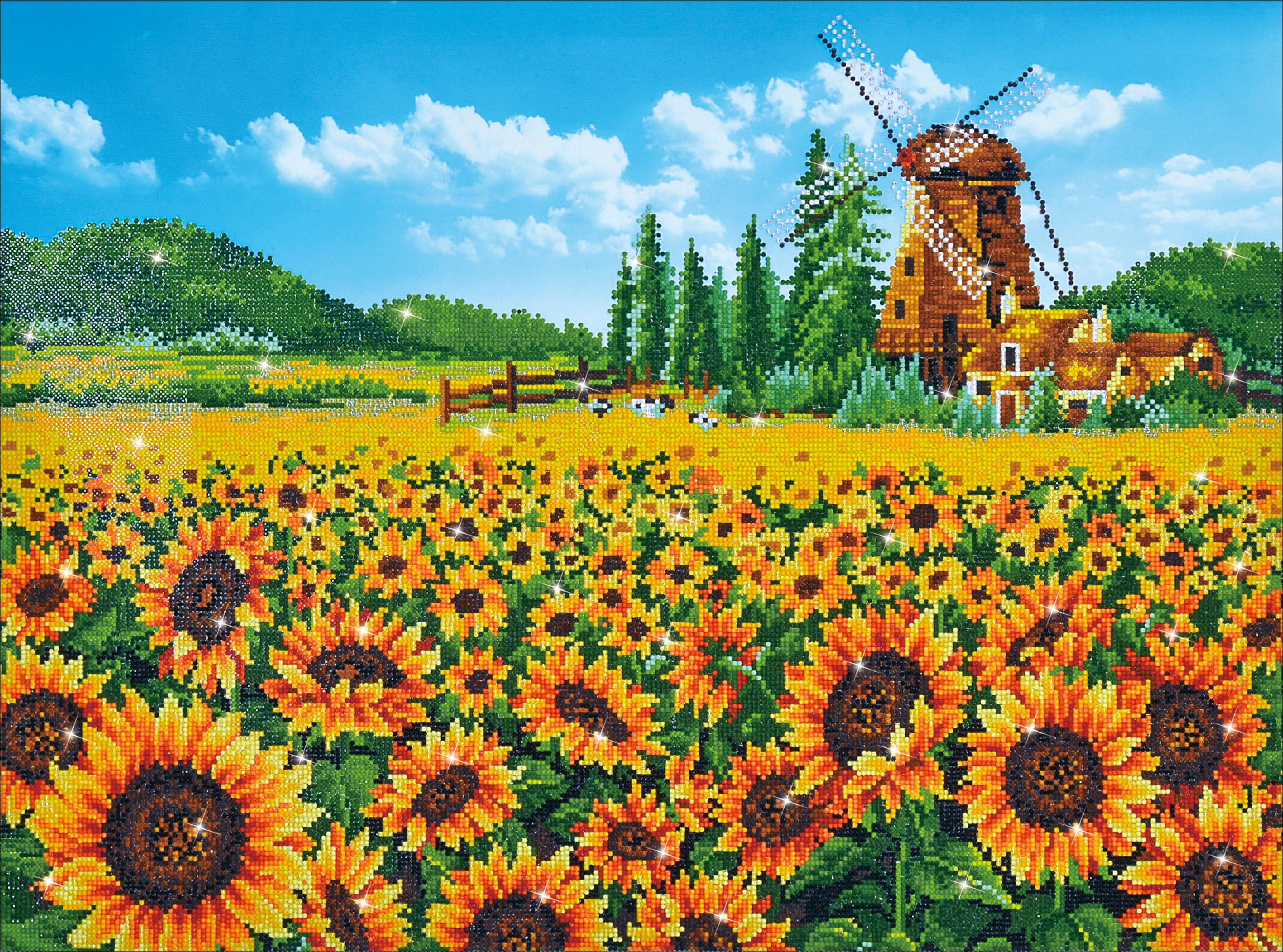 Diamond Dotz Diamond Embroidery Facet Art Kit 33.5X25.5-Sunflower Windmill