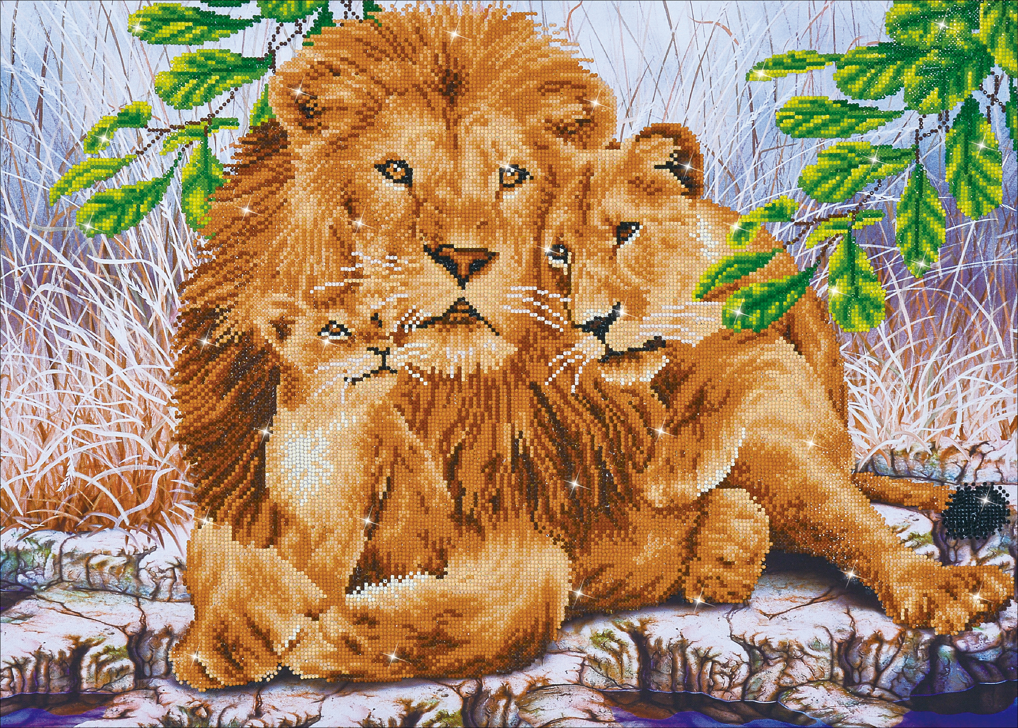 Diamond Dotz Diamond Embroidery Facet Art Kit 33.5X24.8-Lion Family