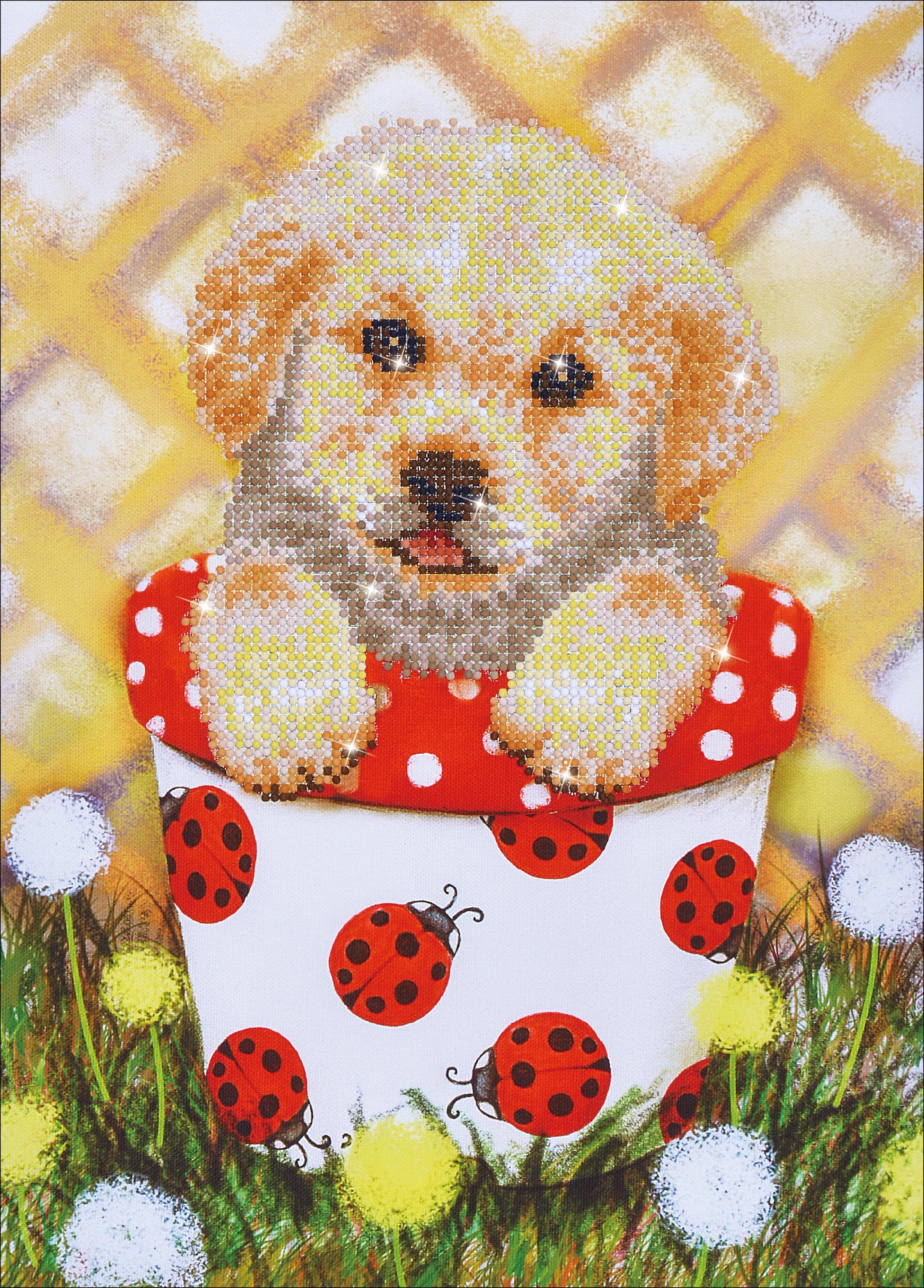Diamond Dotz Diamond Embroidery Facet Art Kit 15X19.5-Pup In Pot