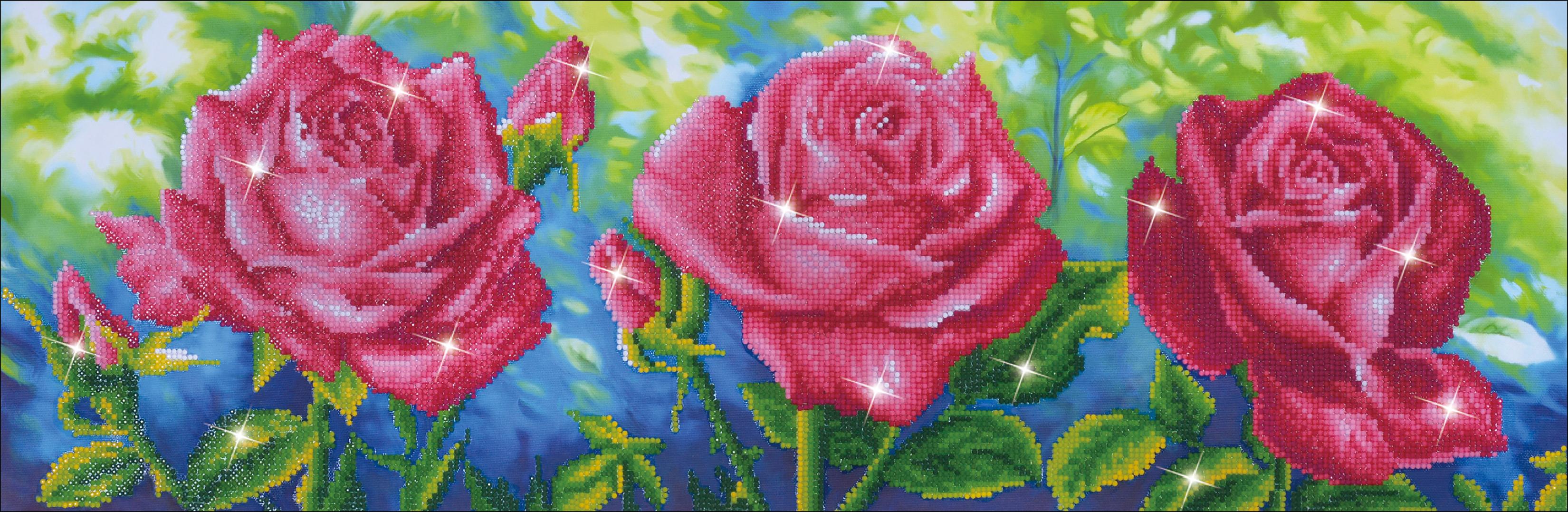 Diamond Dotz Diamond Embroidery Facet Art Kit 35.513.75-Les Roses du Jardin