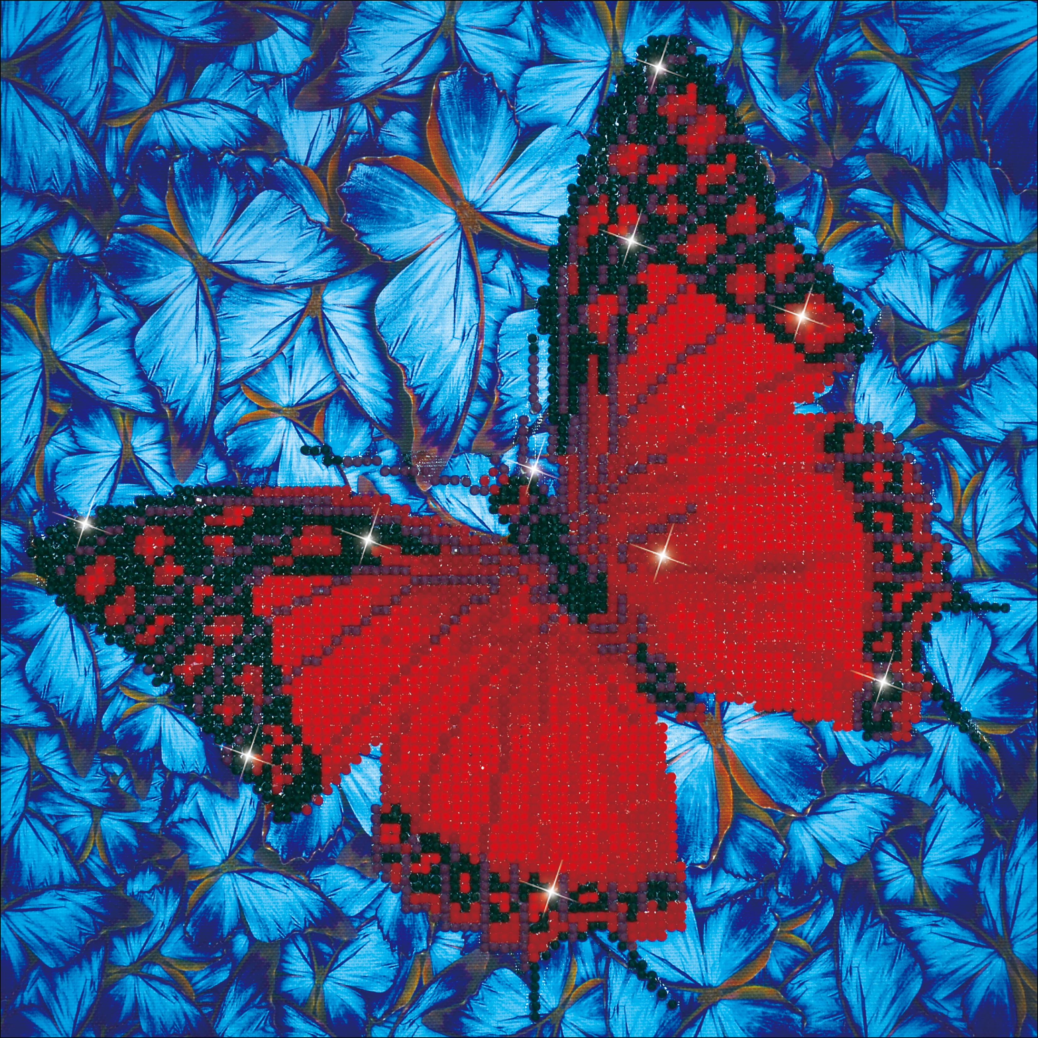 Diamond Dotz Diamond Embroidery Facet Art Kit 14X14-Flutterby Red
