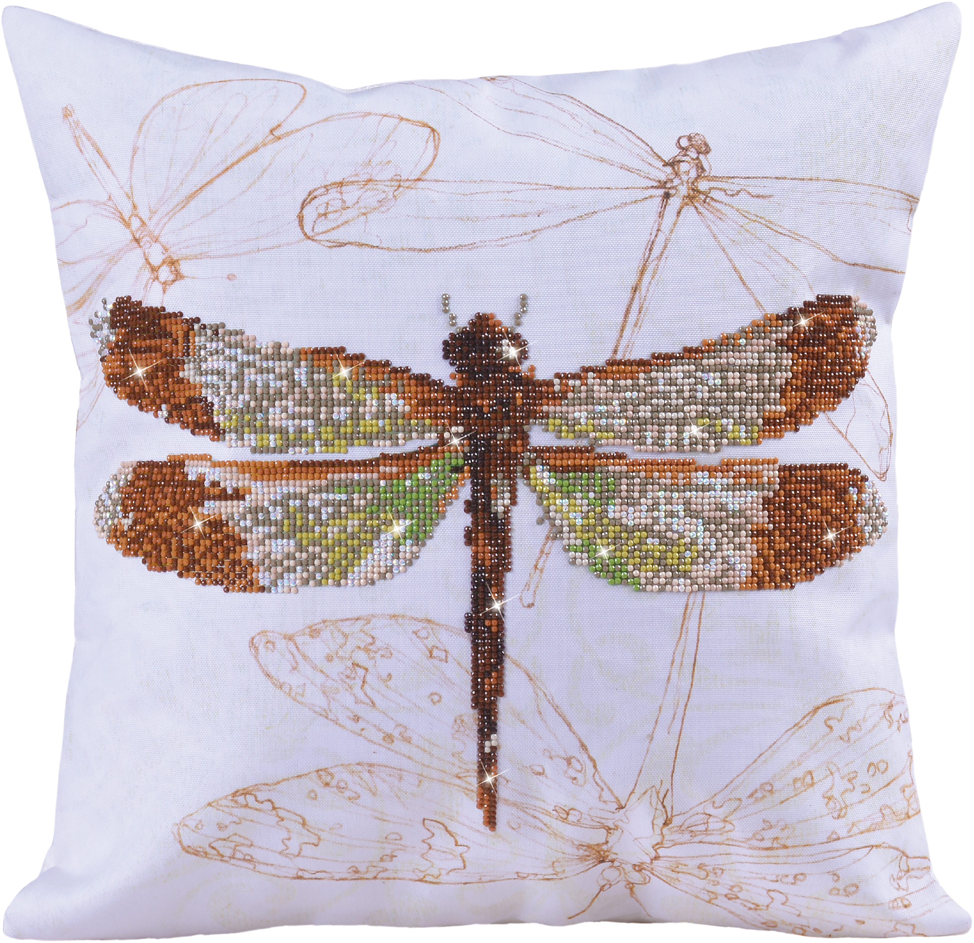 Diamond Dotz Diamond Embroidery Pillow Facet Art Kit-Dragonfly Earth (17.5X17.5)