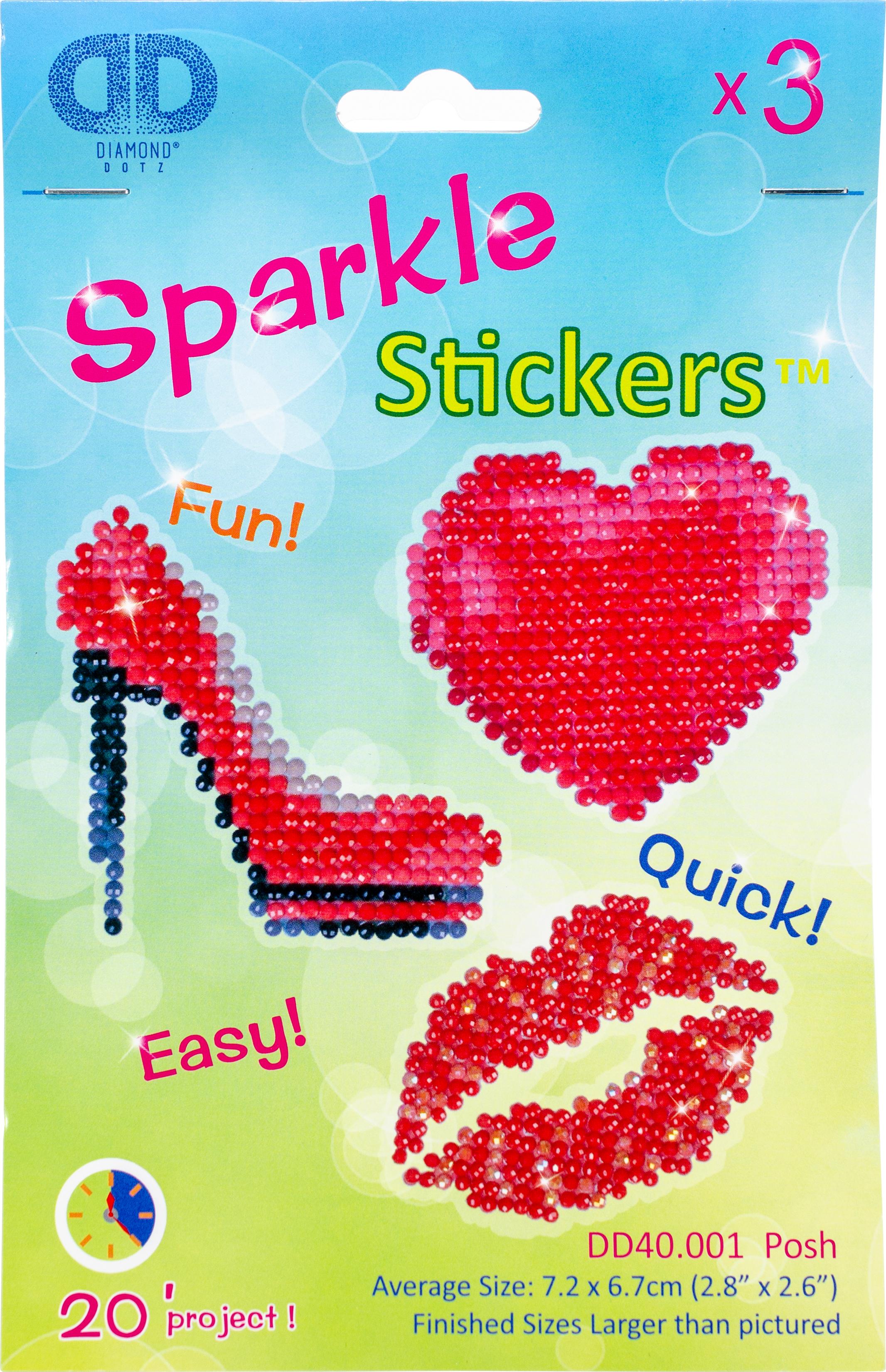 Diamond Dotz Diamond Stickers Facet Art Kit-Assorted Posh 3/Pkg