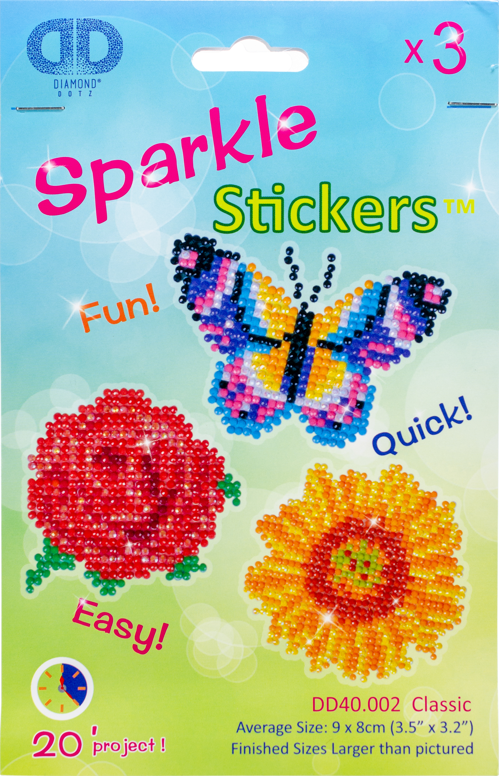 Diamond Dotz Diamond Stickers Facet Art Kit-Assorted Classic 3/Pkg