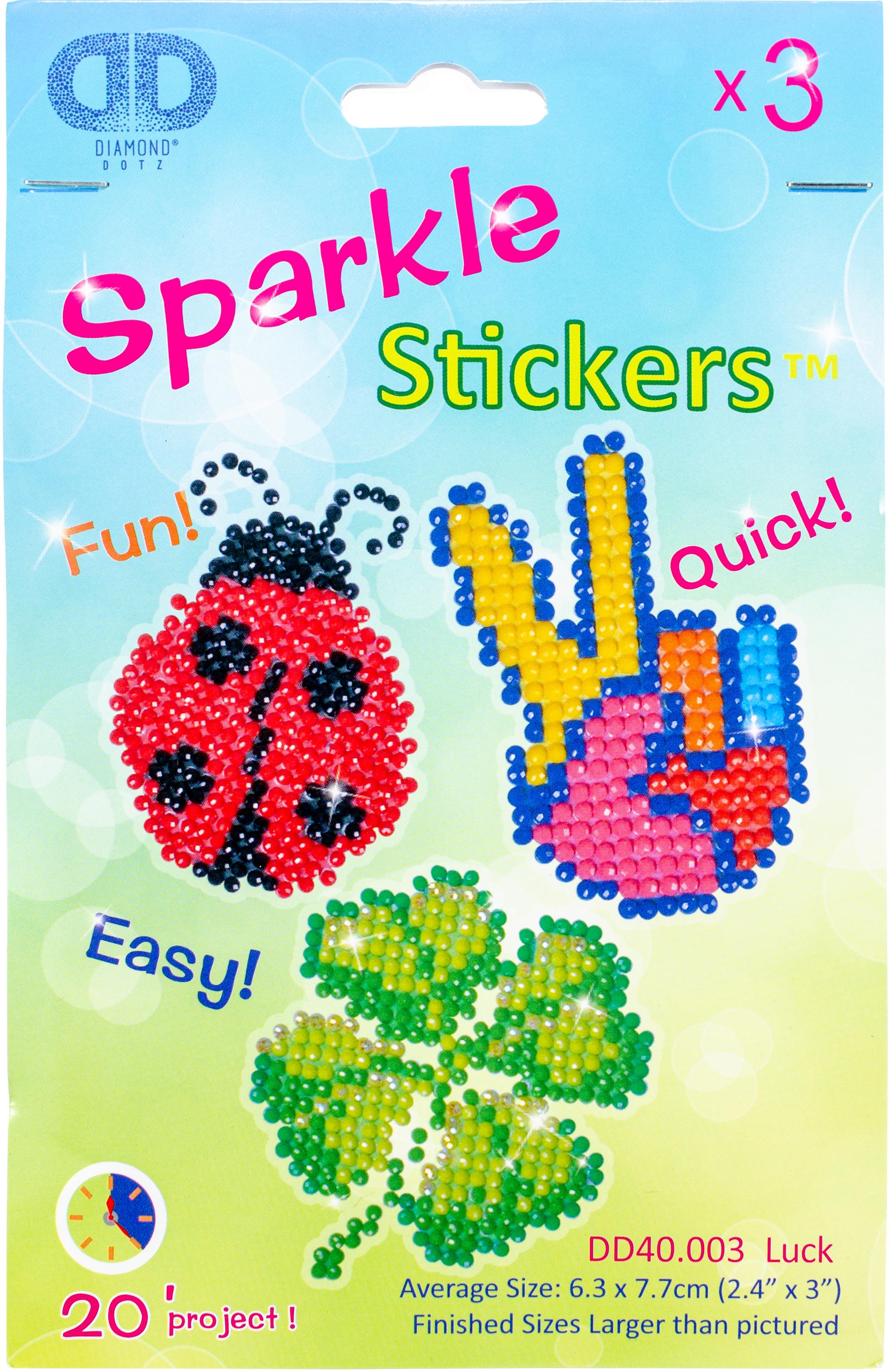 Diamond Dotz Diamond Stickers Facet Art Kit-Assorted Luck 3/Pkg