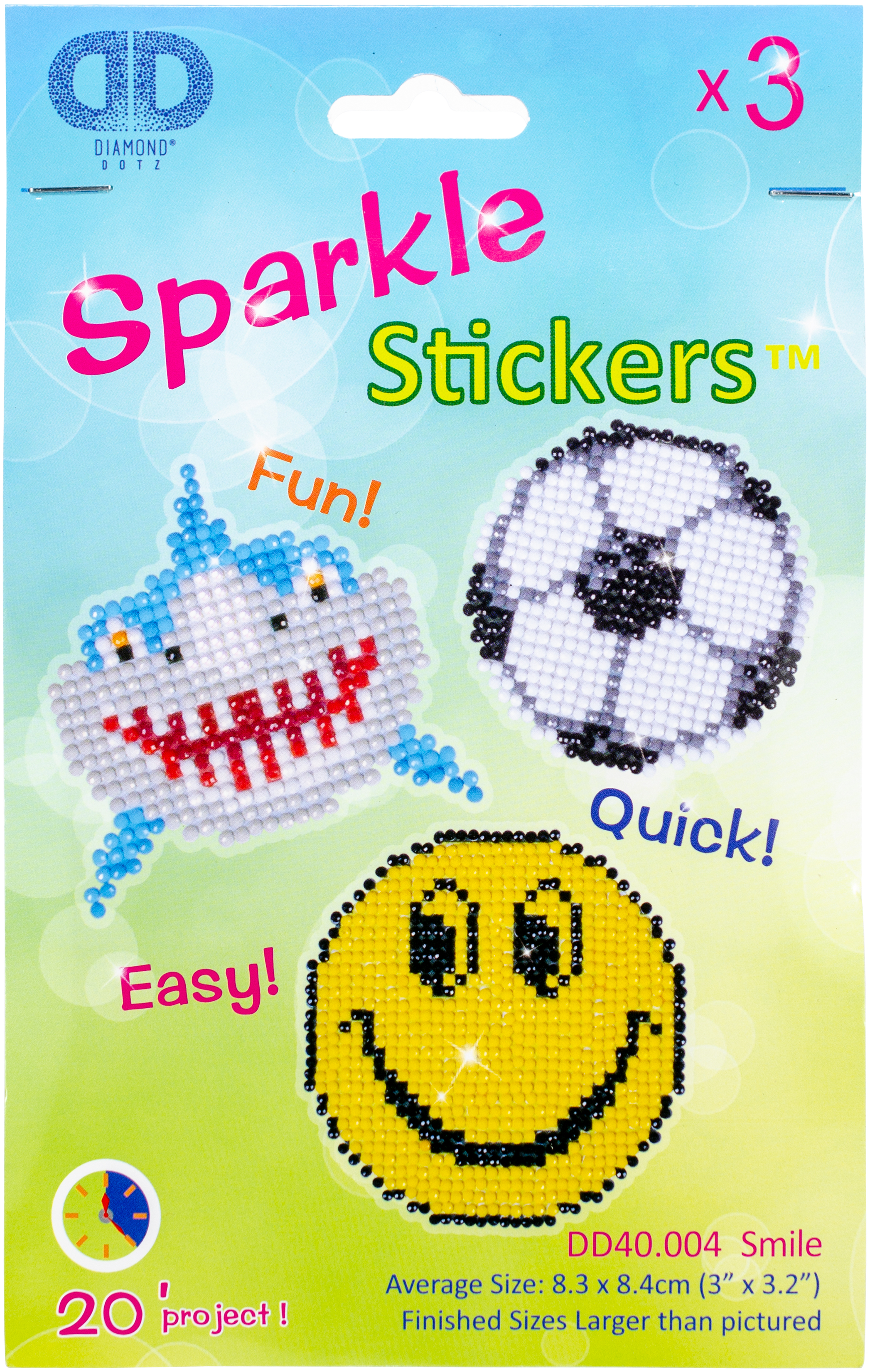 Diamond Dotz Diamond Stickers Facet Art Kit-Assorted Smile 3/Pkg