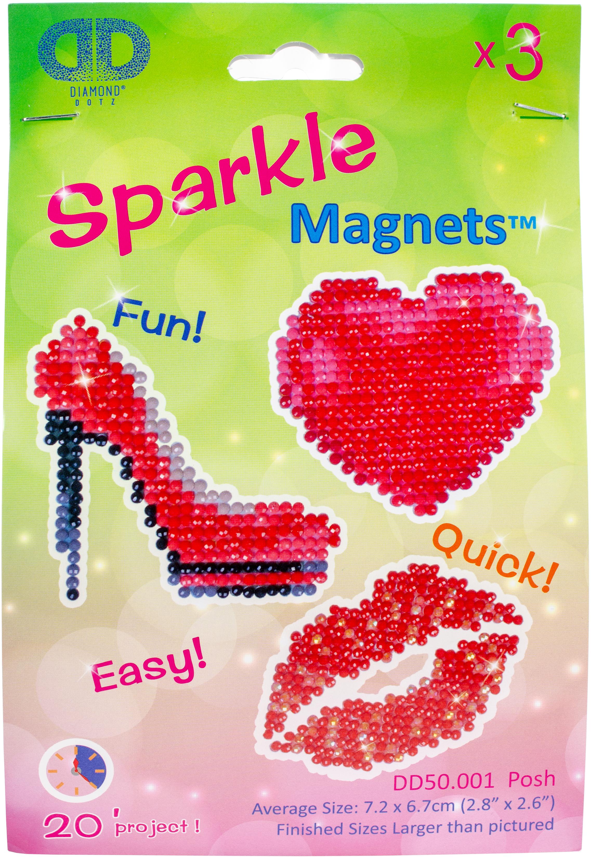 Diamond Dotz Diamond Magnets Facet Art Kit-Assorted Posh 3/Pkg