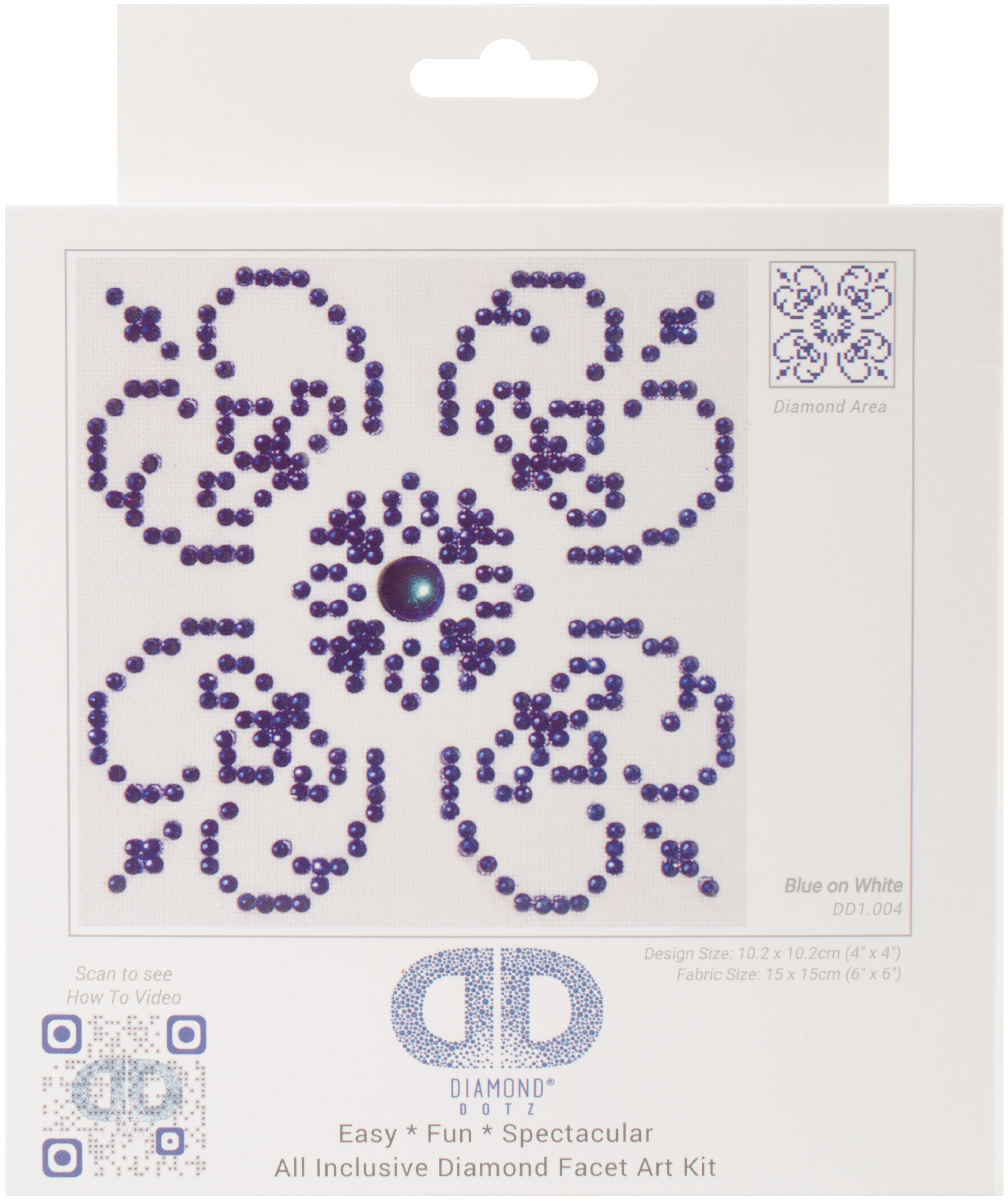 Diamond Dotz Diamond Embroidery Facet Art Kit 6X6-Blue On White