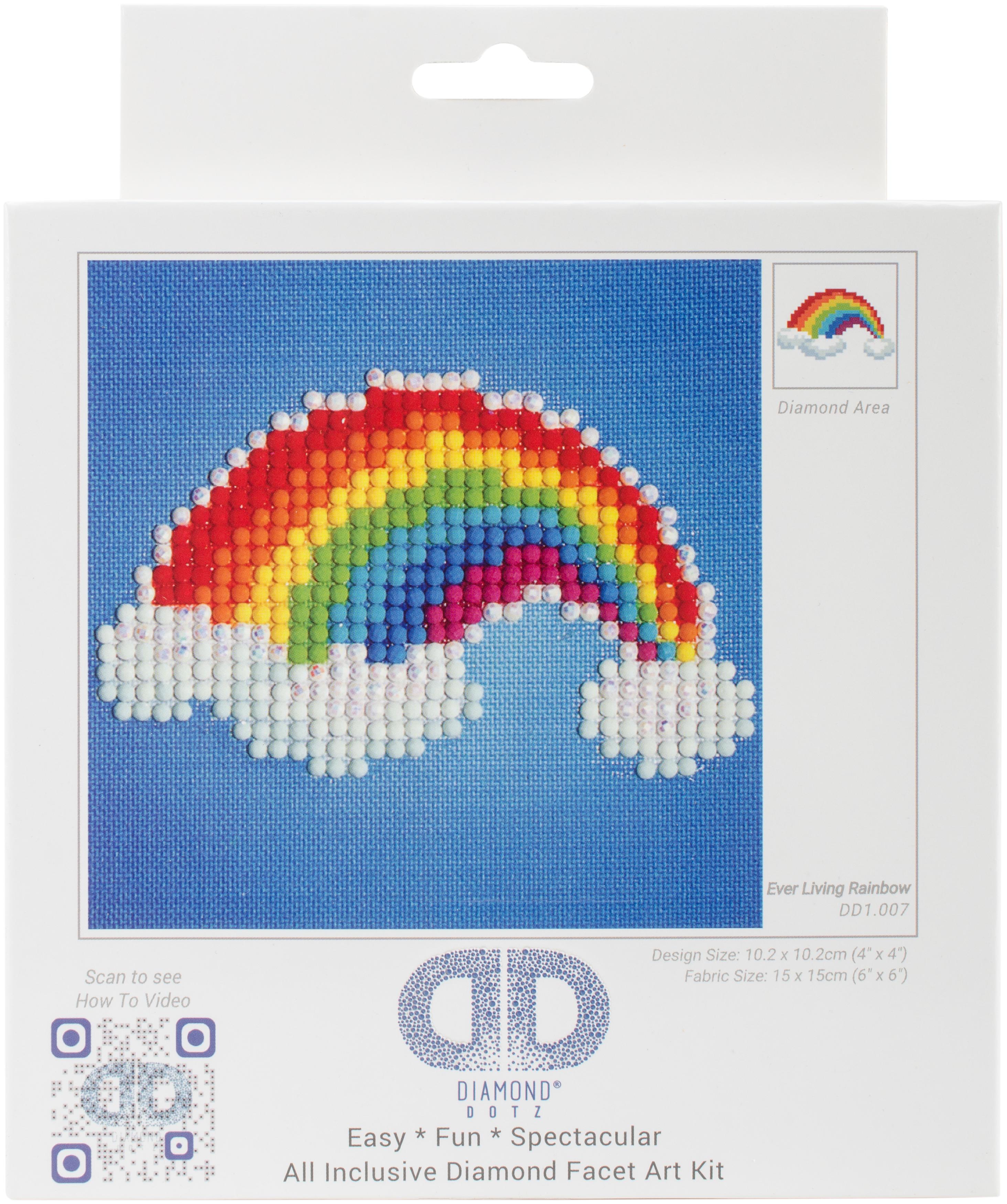 Diamond Dotz Diamond Embroidery Facet Art Kit 6X6-Ever Living Rainbow