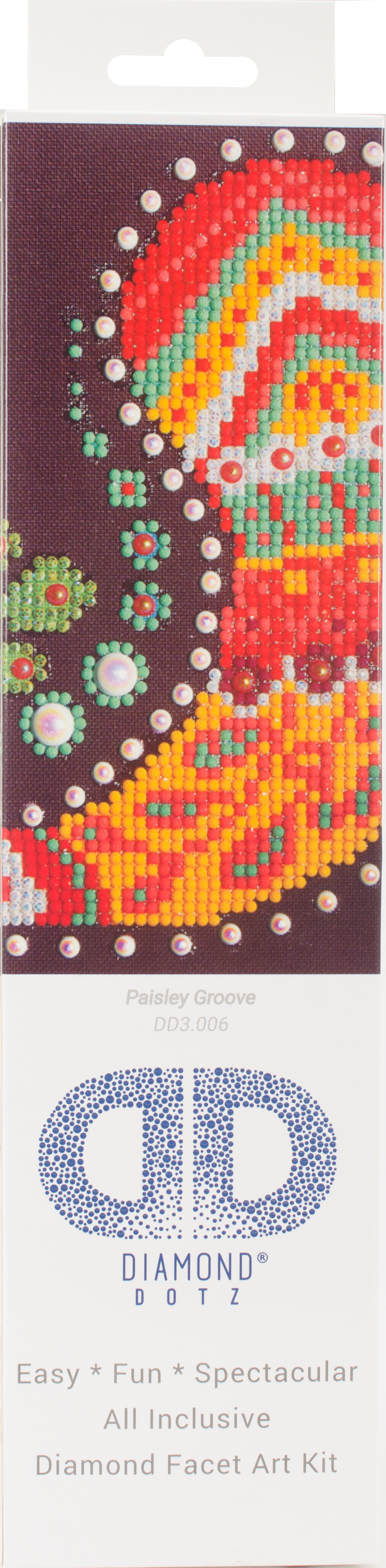 Diamond Dotz Diamond Embroidery Facet Art Kit 9.75X9.75-Paisley Groove