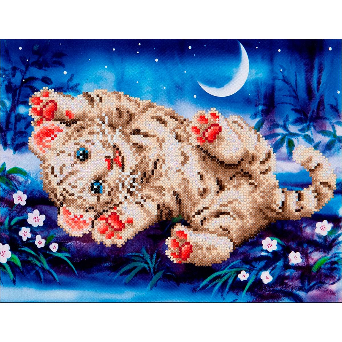 Diamond Dotz Diamond Embroidery Facet Art Kit 17X13.75-Baby Tiger Roly Poly