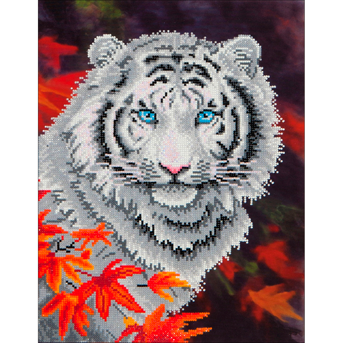 Diamond Dotz Diamond Embroidery Facet Art Kit 17.25X21.75-White Tiger In Autumn