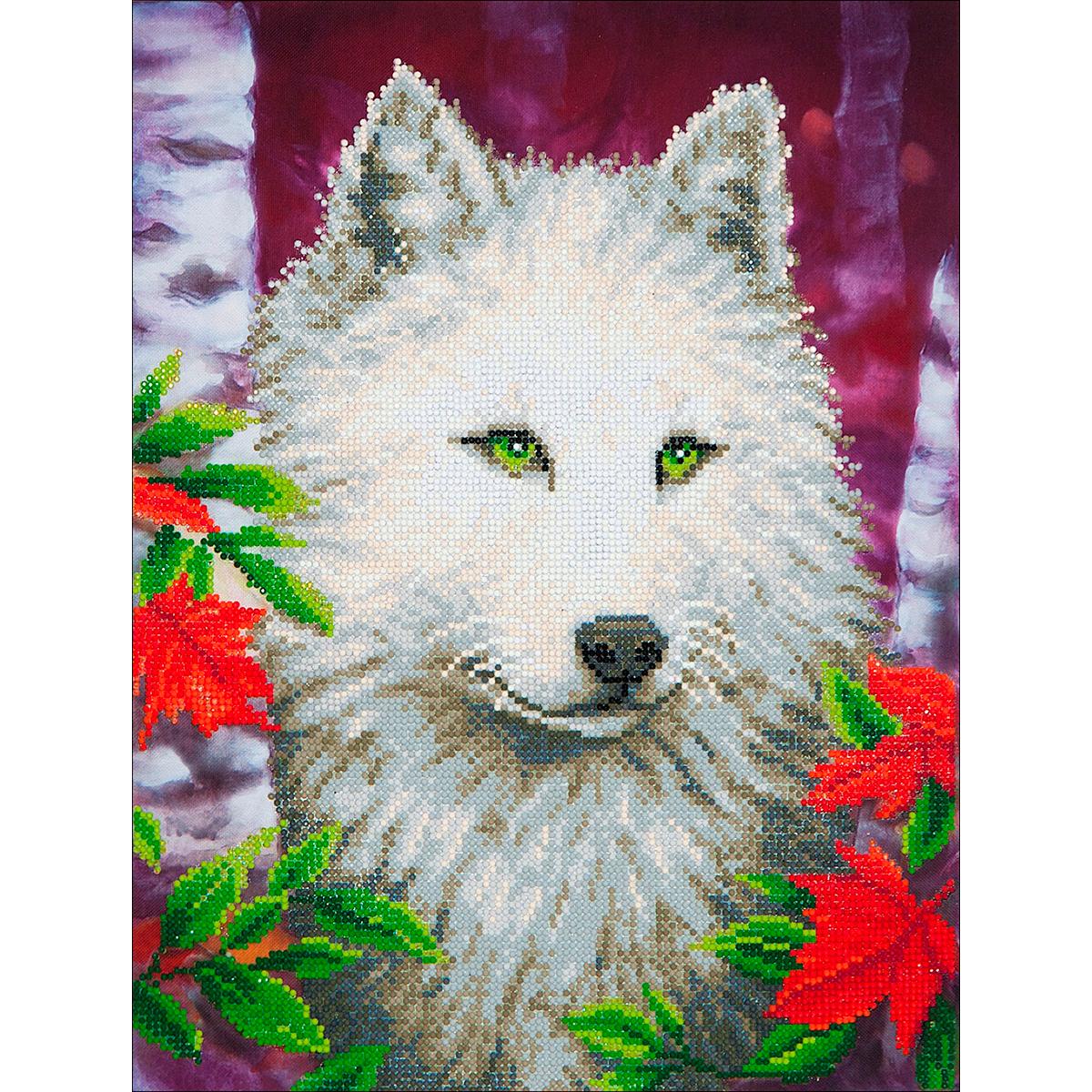 Diamond Dotz Diamond Embroidery Facet Art Kit 23X19-White Wolf