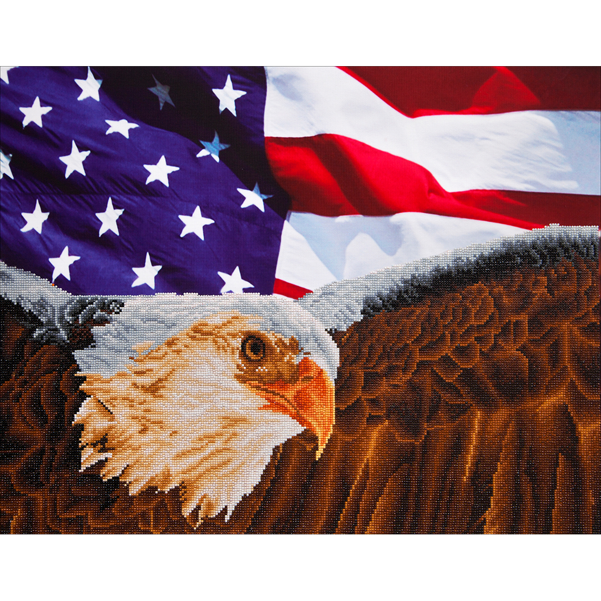 Diamond Dotz Diamond Embroidery Facet Art Kit 25.5X35.5-Bald Eagle & Flag
