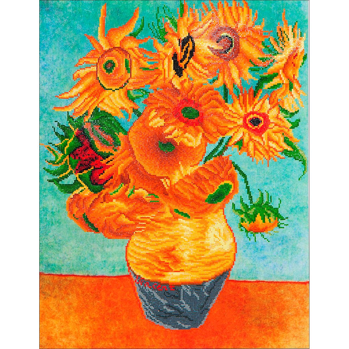 Diamond Dotz Diamond Embroidery Facet Art Kit 25.25X31.5-Sunflowers (Van Gogh)