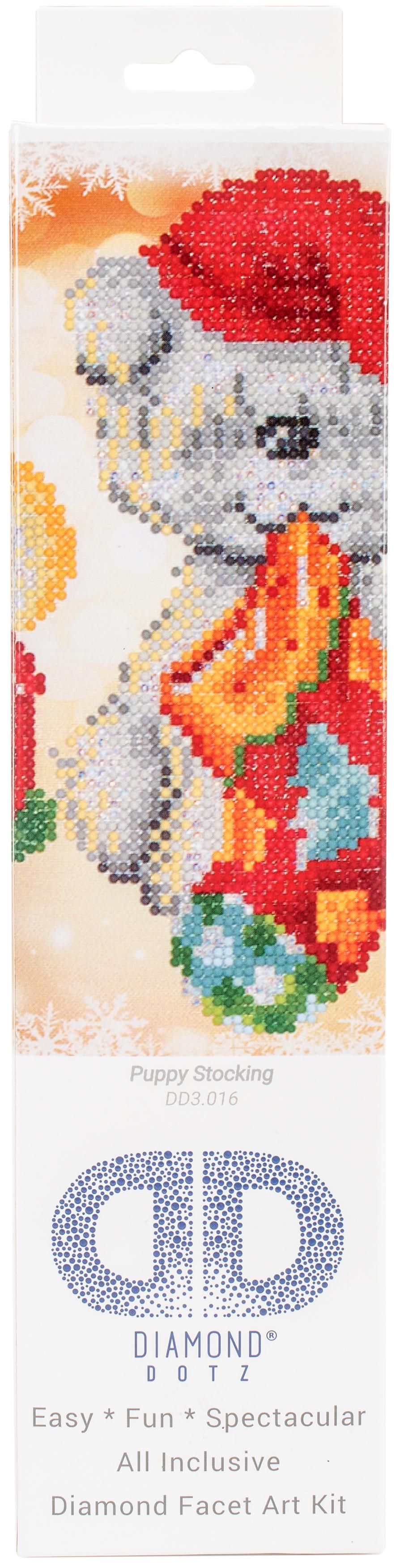 Diamond Dotz Diamond Embroidery Facet Art Kit 11X11.75-Puppy Stocking