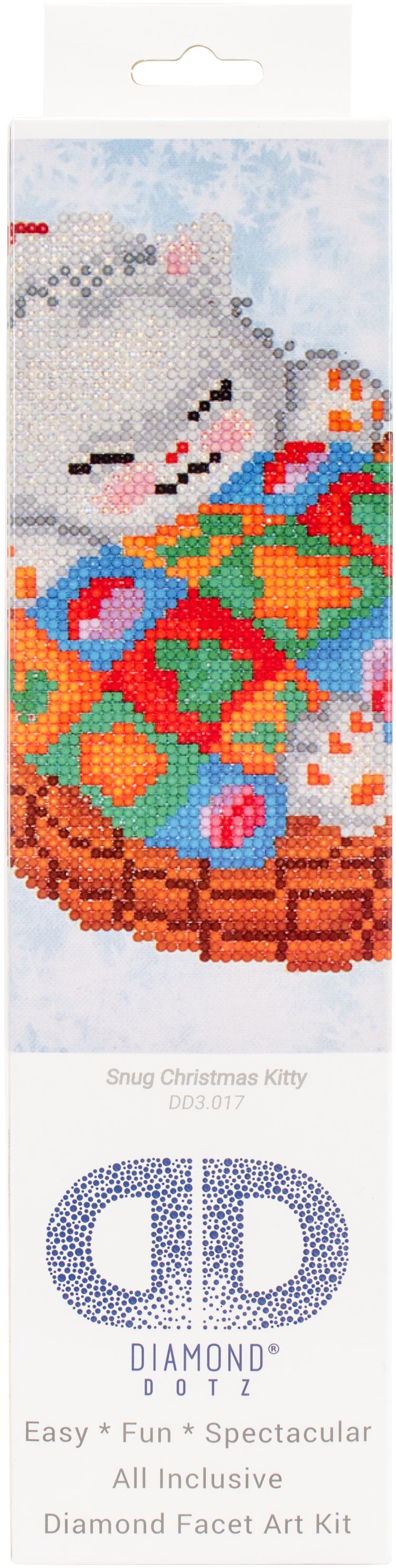 Diamond Dotz Diamond Embroidery Facet Art Kit 11X11.75-Snug Christmas Kitty