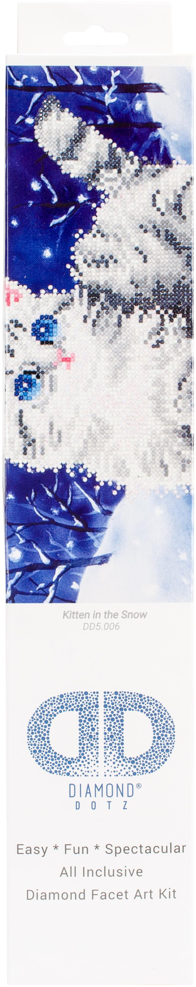 Diamond Dotz Diamond Embroidery Facet Art Kit 17X13.75-Kitten In The Snow