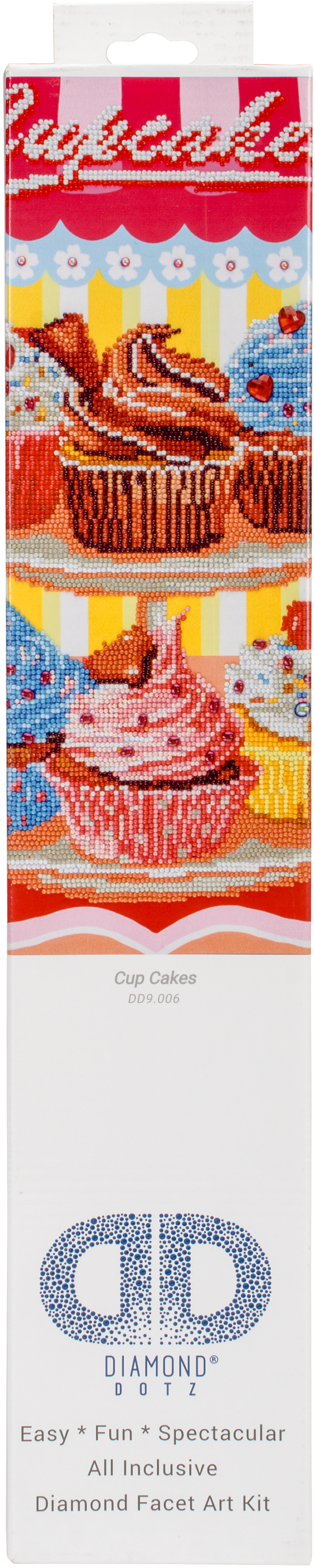 Diamond Dotz Diamond Embroidery Facet Art Kit 19.5X23.5-Cup Cakes