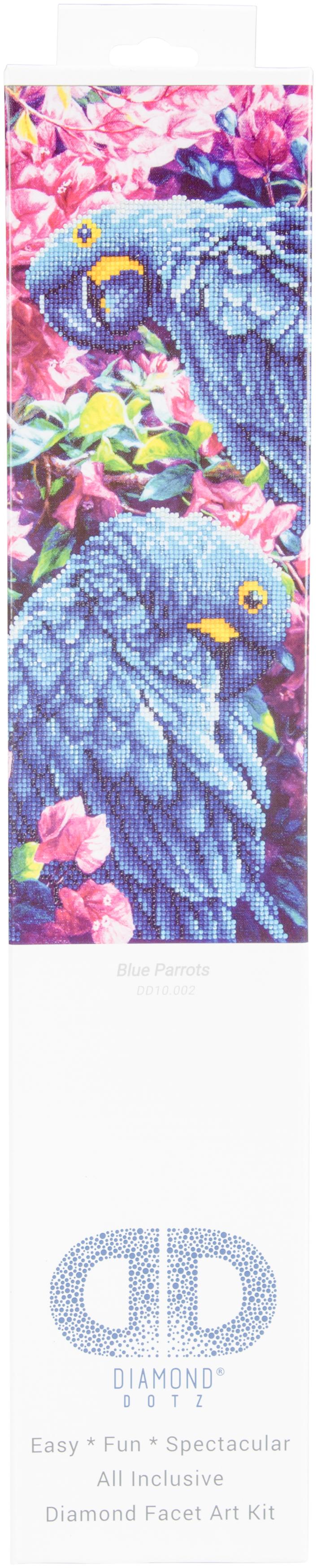Diamond Dotz Diamond Embroidery Facet Art Kit 23.5X17.75-Blue Parrot