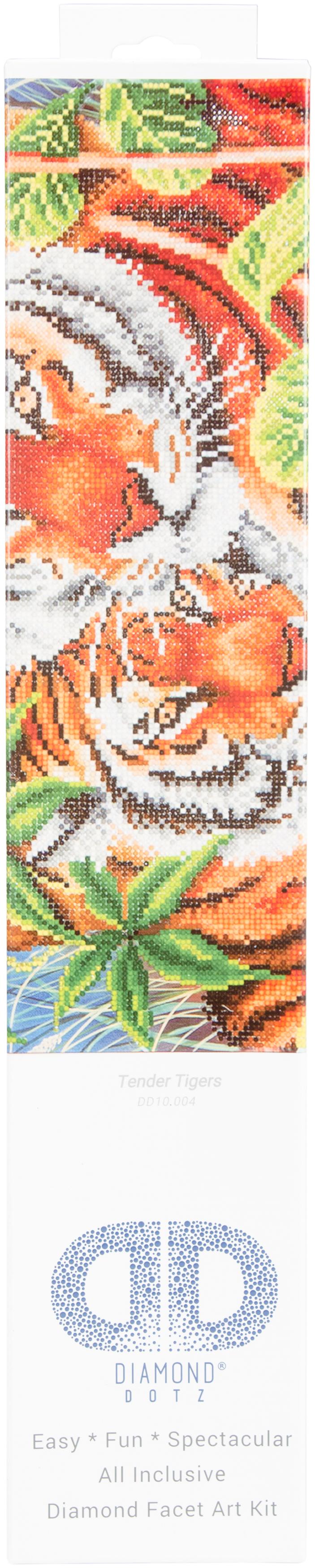 Diamond Dotz Diamond Embroidery Facet Art Kit 23.5X17-Tender Tiger