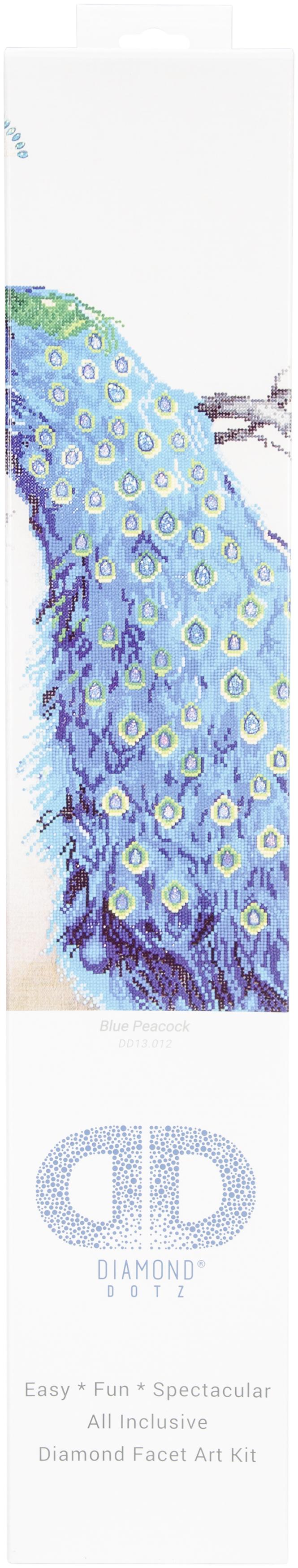 Diamond Dotz Diamond Embroidery Facet Art Kit 25.25X34.5-Blue Peacock