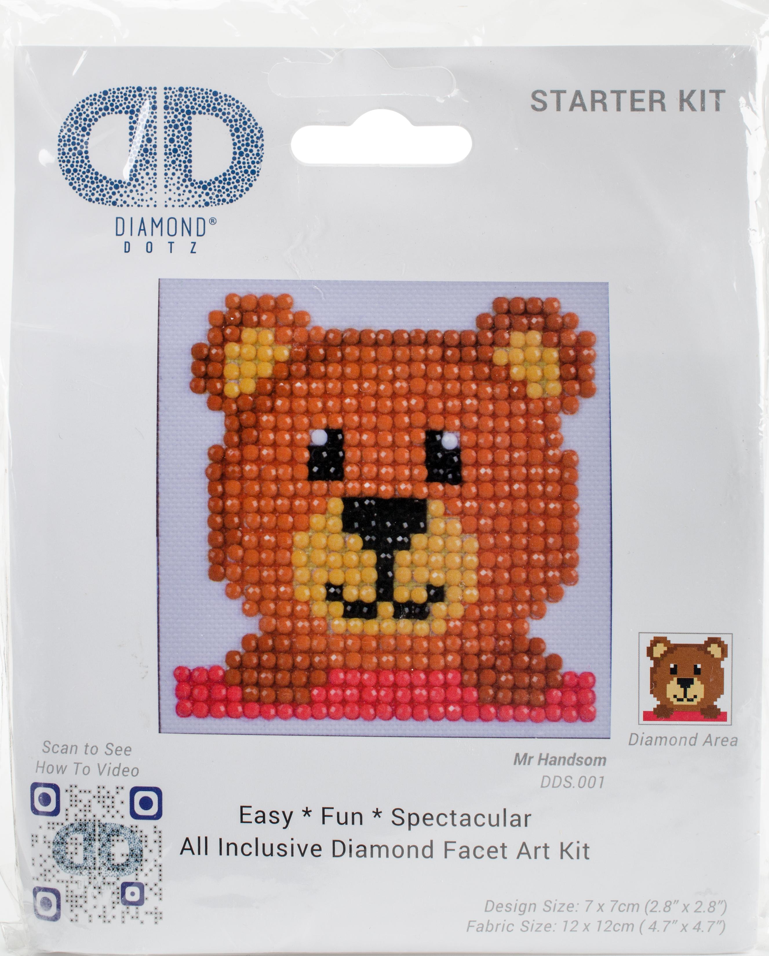 Diamond Dotz Diamond Embroidery Facet Art Kit 4.75X4.75-Mr. Handsome