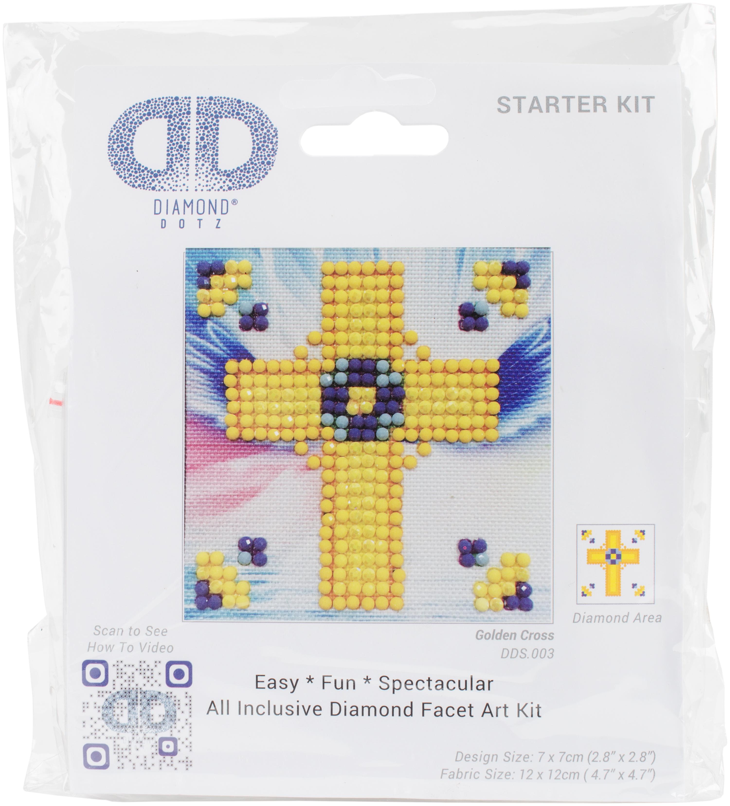 Diamond Dotz Diamond Embroidery Facet Art Kit 4.75X4.75-Golden Cross