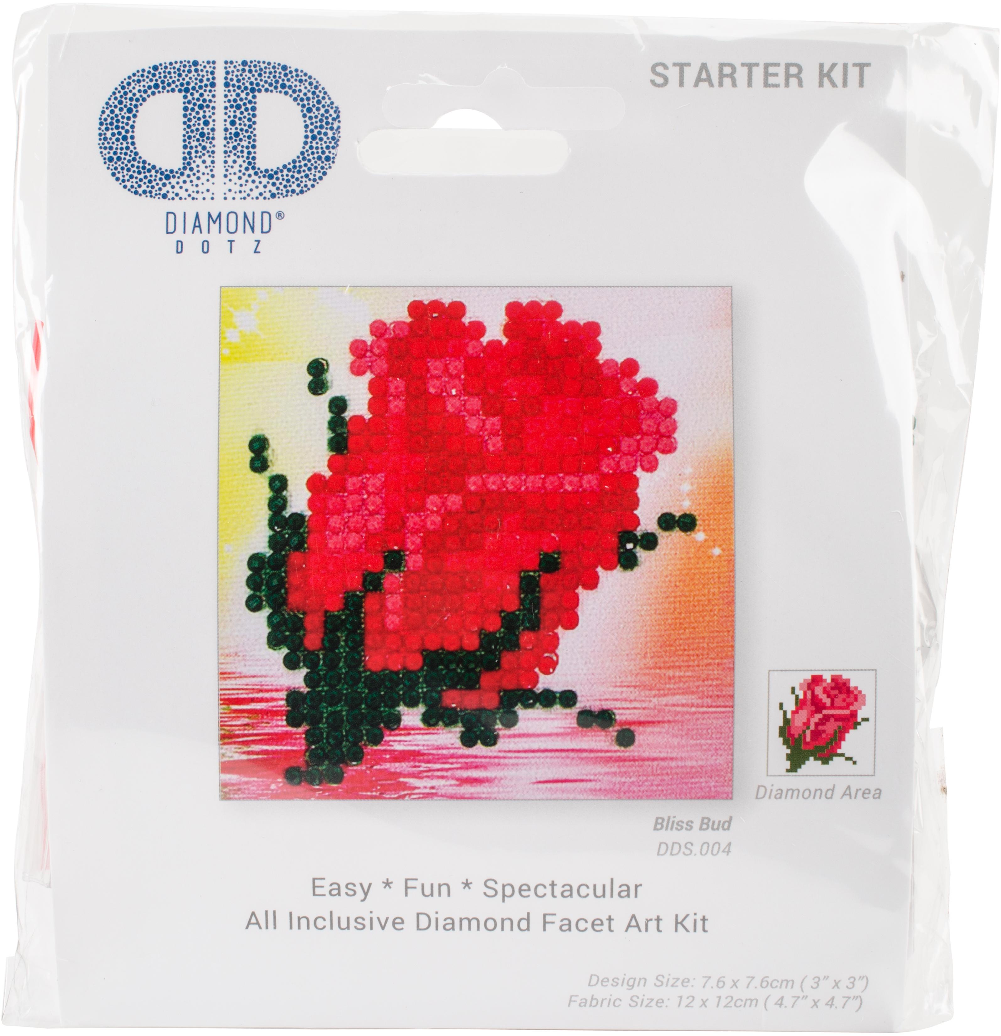Diamond Dotz Diamond Embroidery Facet Art Kit 4.75X4.75-Bliss Bud