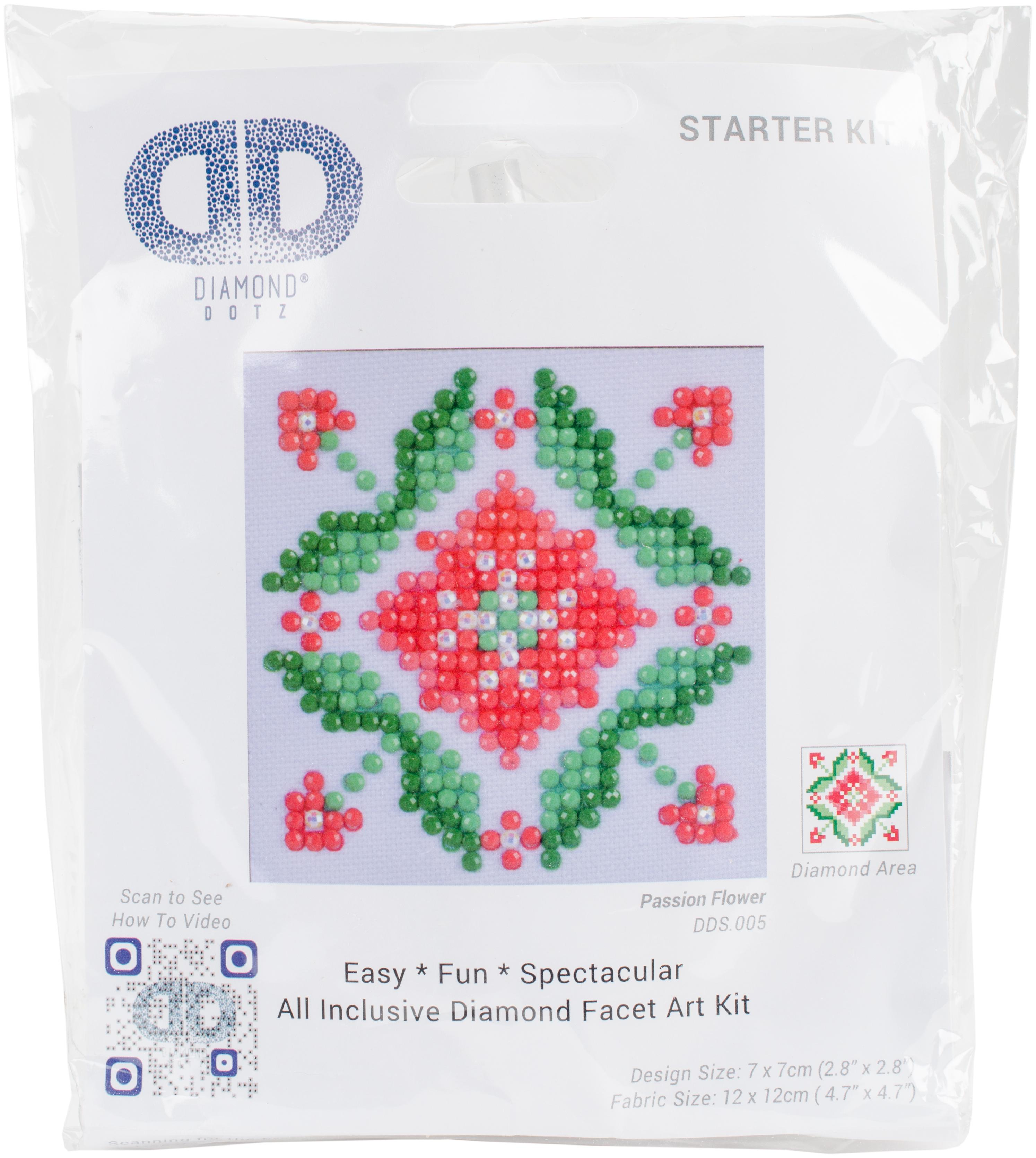Diamond Dotz Diamond Embroidery Facet Art Kit 4.75X4.75-Passion Flower