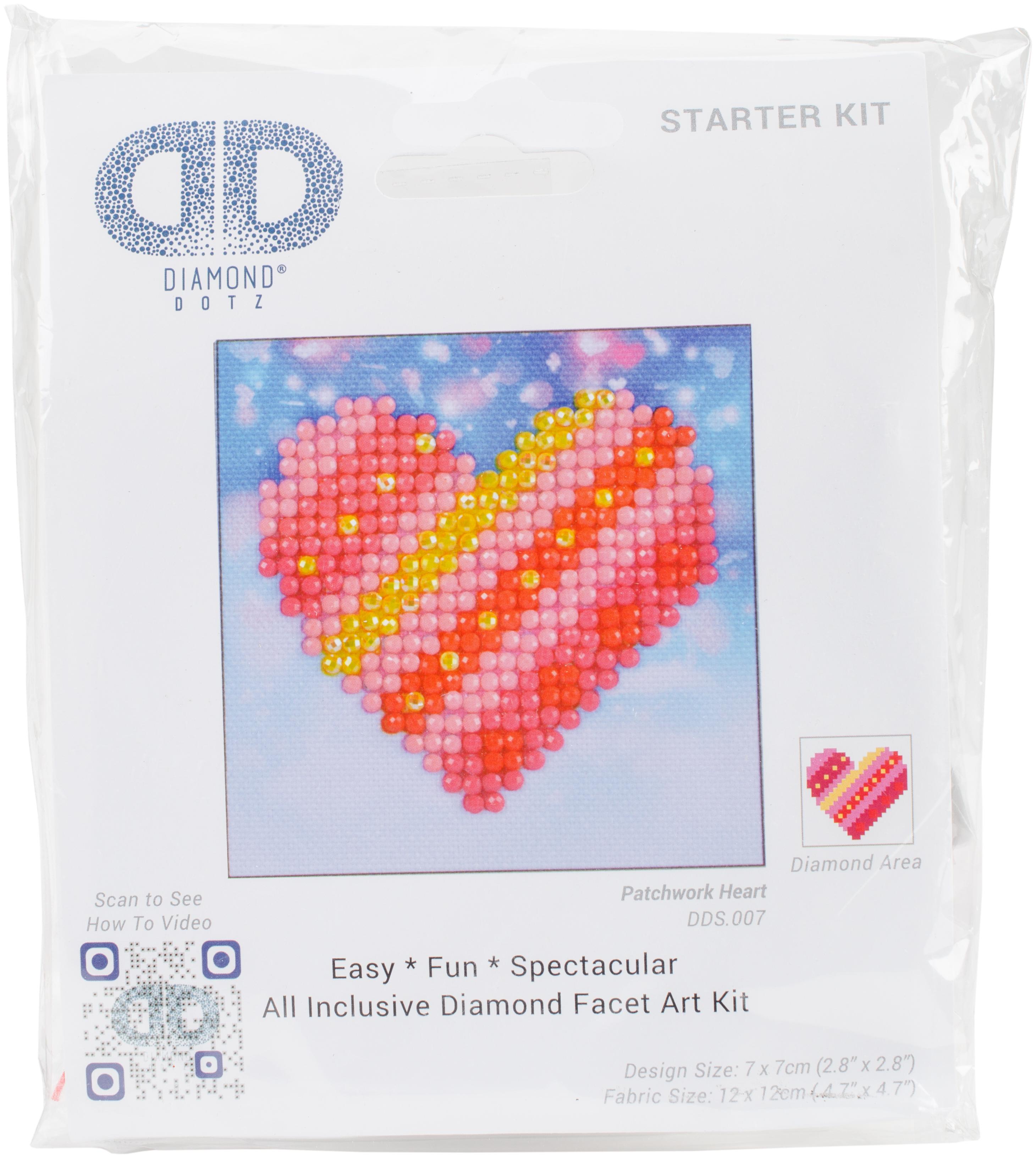 Diamond Dotz Diamond Embroidery Facet Art Kit 4.75X4.75-Patchwork Heart