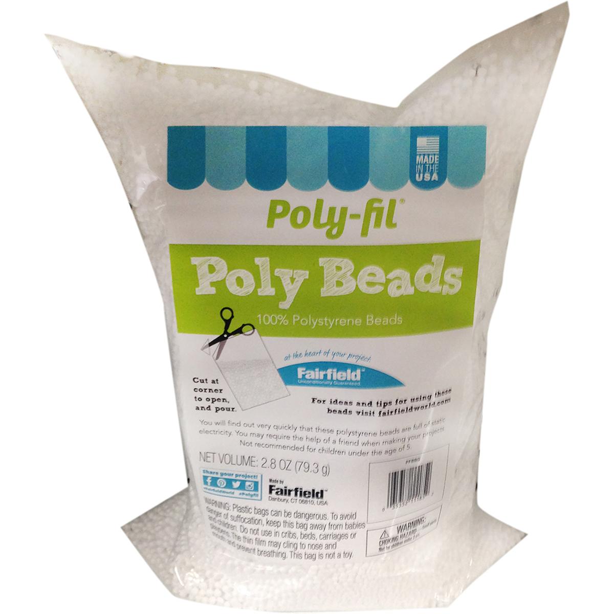 Fairfield Poly-Fil Poly Beads-2.8oz FOB: MI