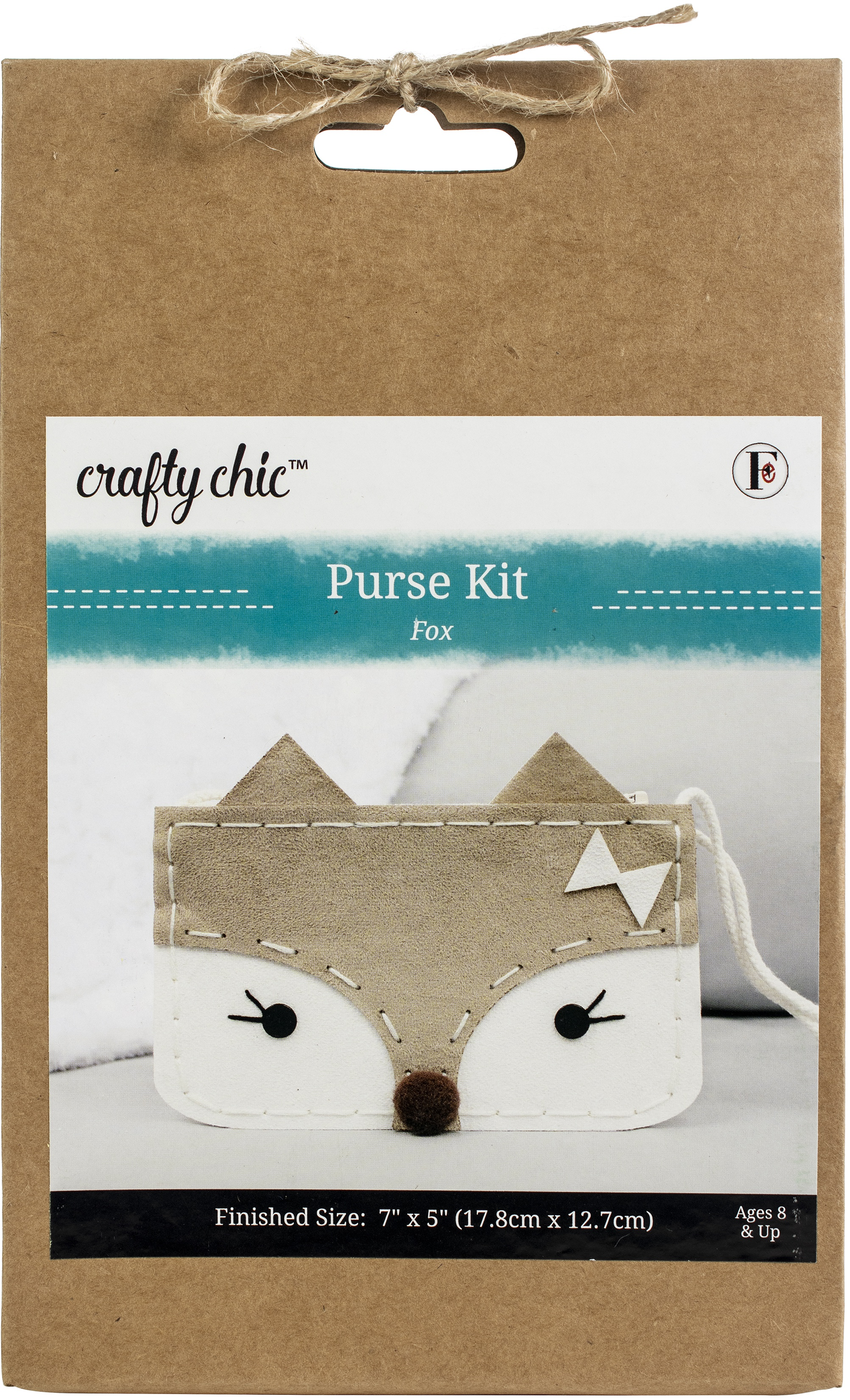 Fabric Editions Needle Creations Felt Bag Kit-All Eyes On You Fox