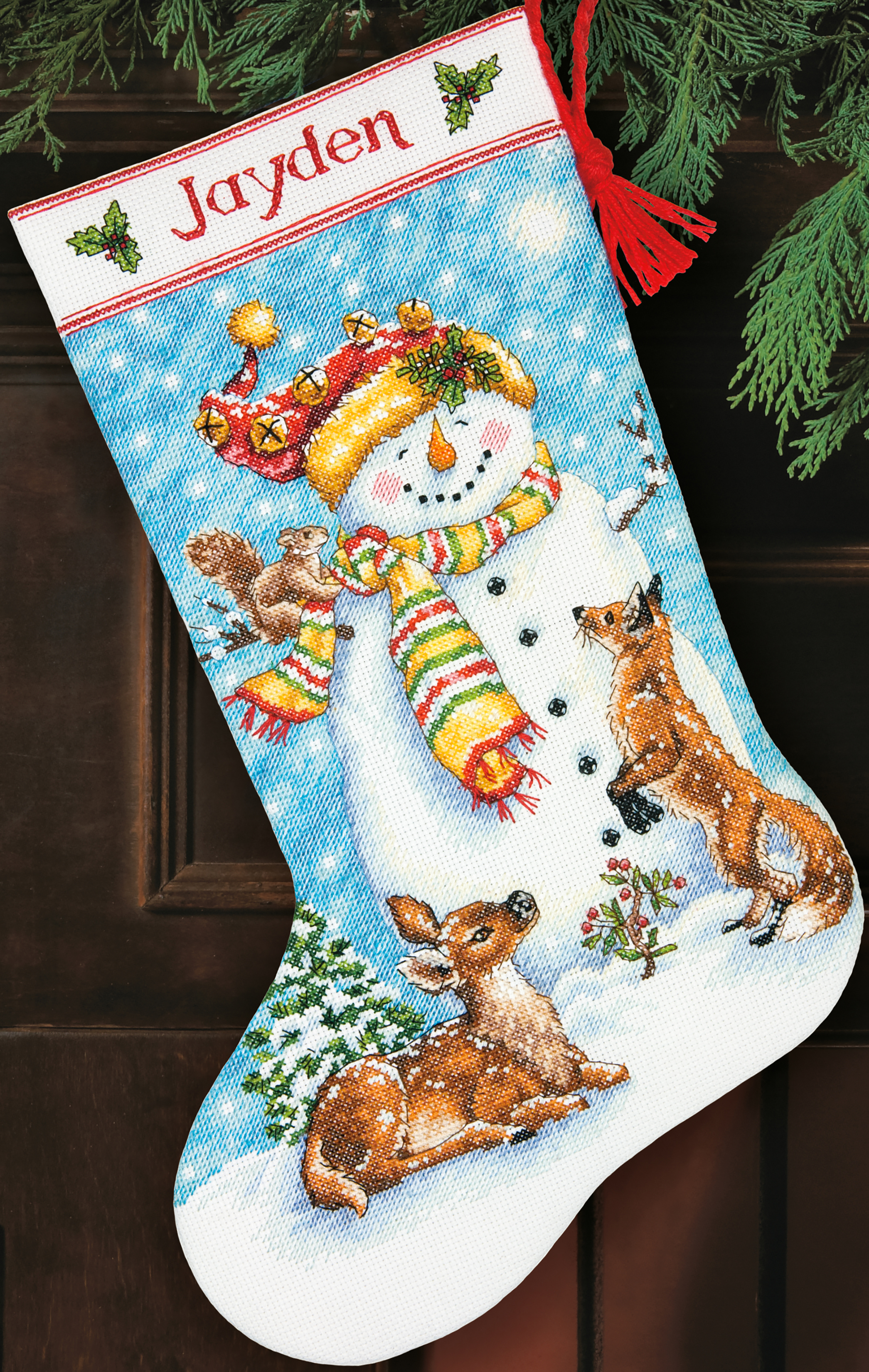 Winter Friends Stocking Counted Cross Stitch Kit