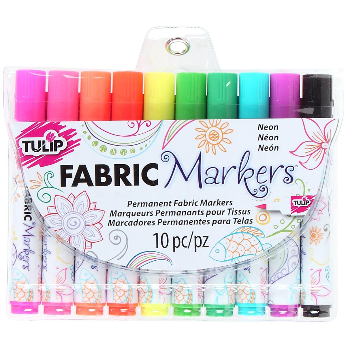 Tulip Fabric Markers 10/Pkg-Neon
