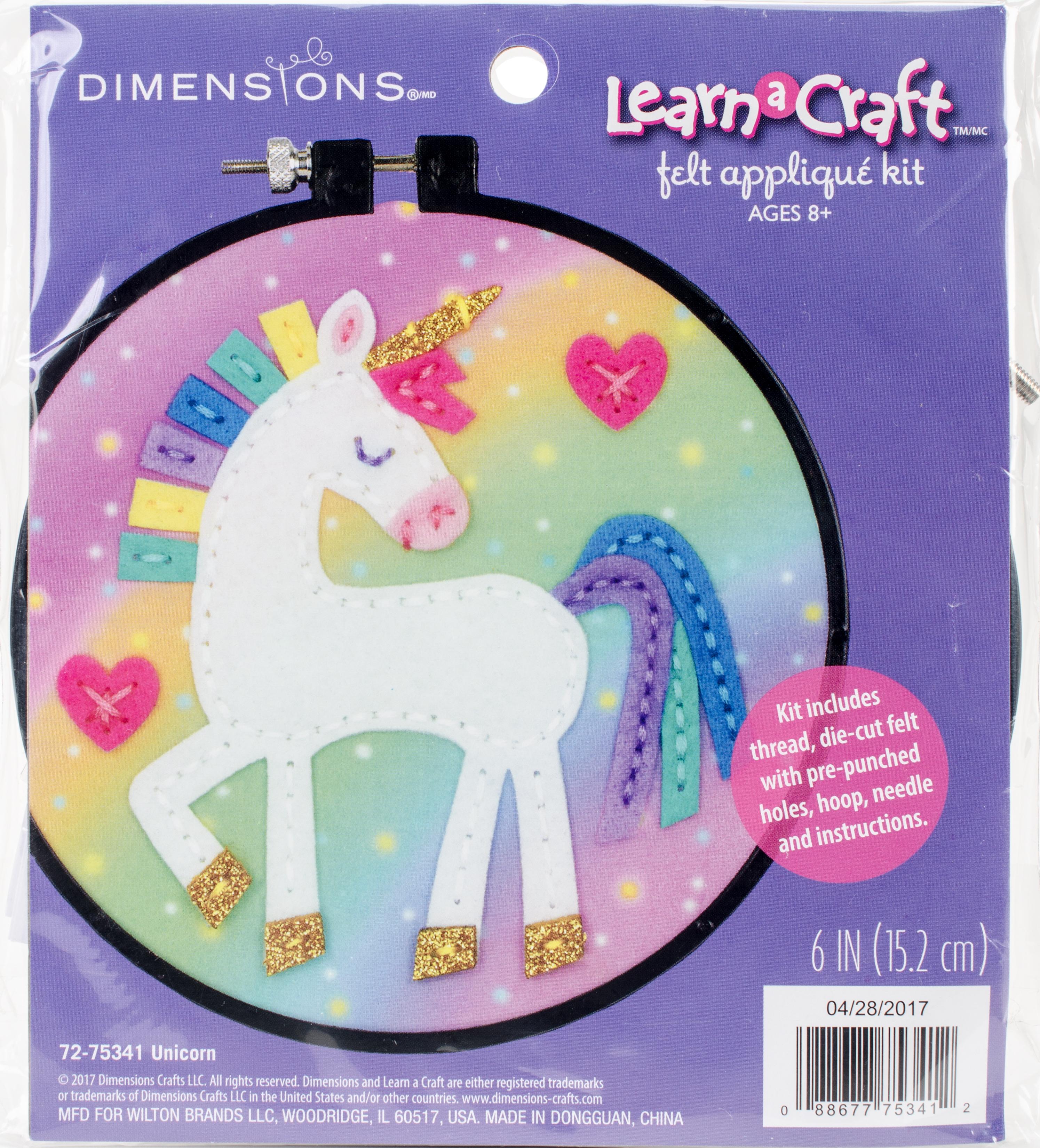 Dimensions Felt Decor Applique Kit-Unicorn
