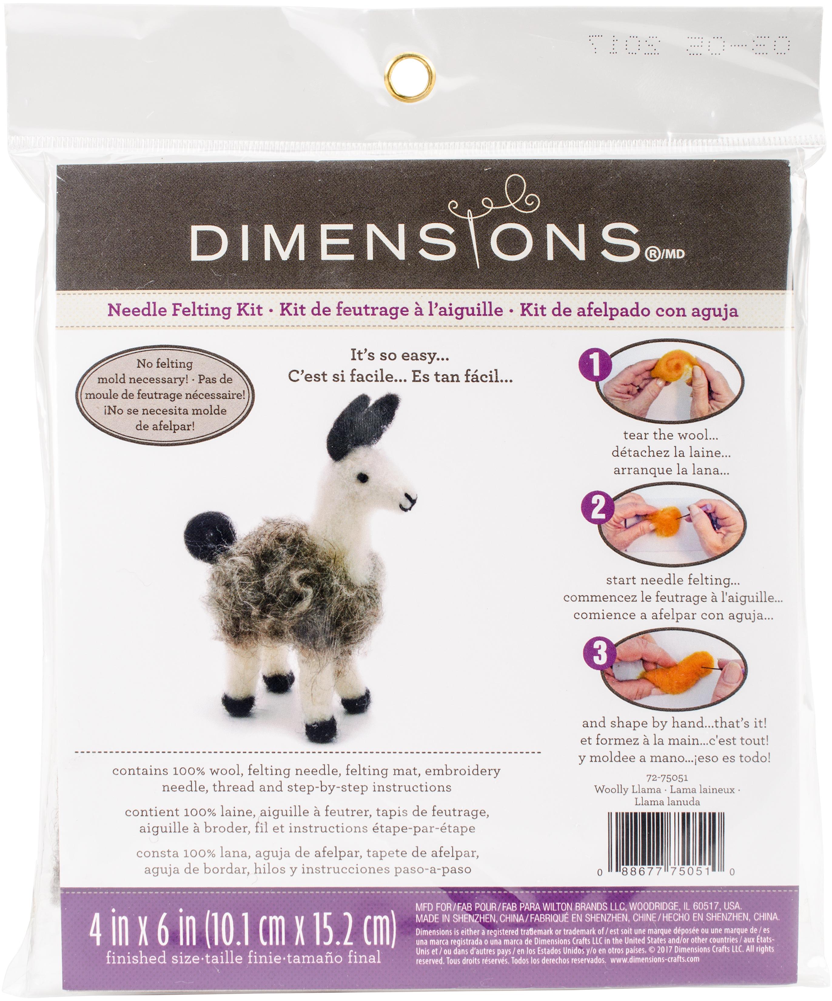 Dimensions Felt Decor Applique Kit-3-D Llama