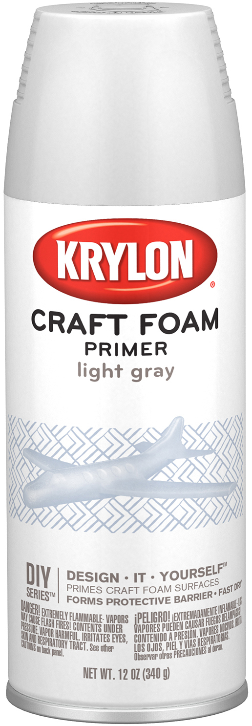 Styrofoam Safe Primer 12oz-Light Gray
